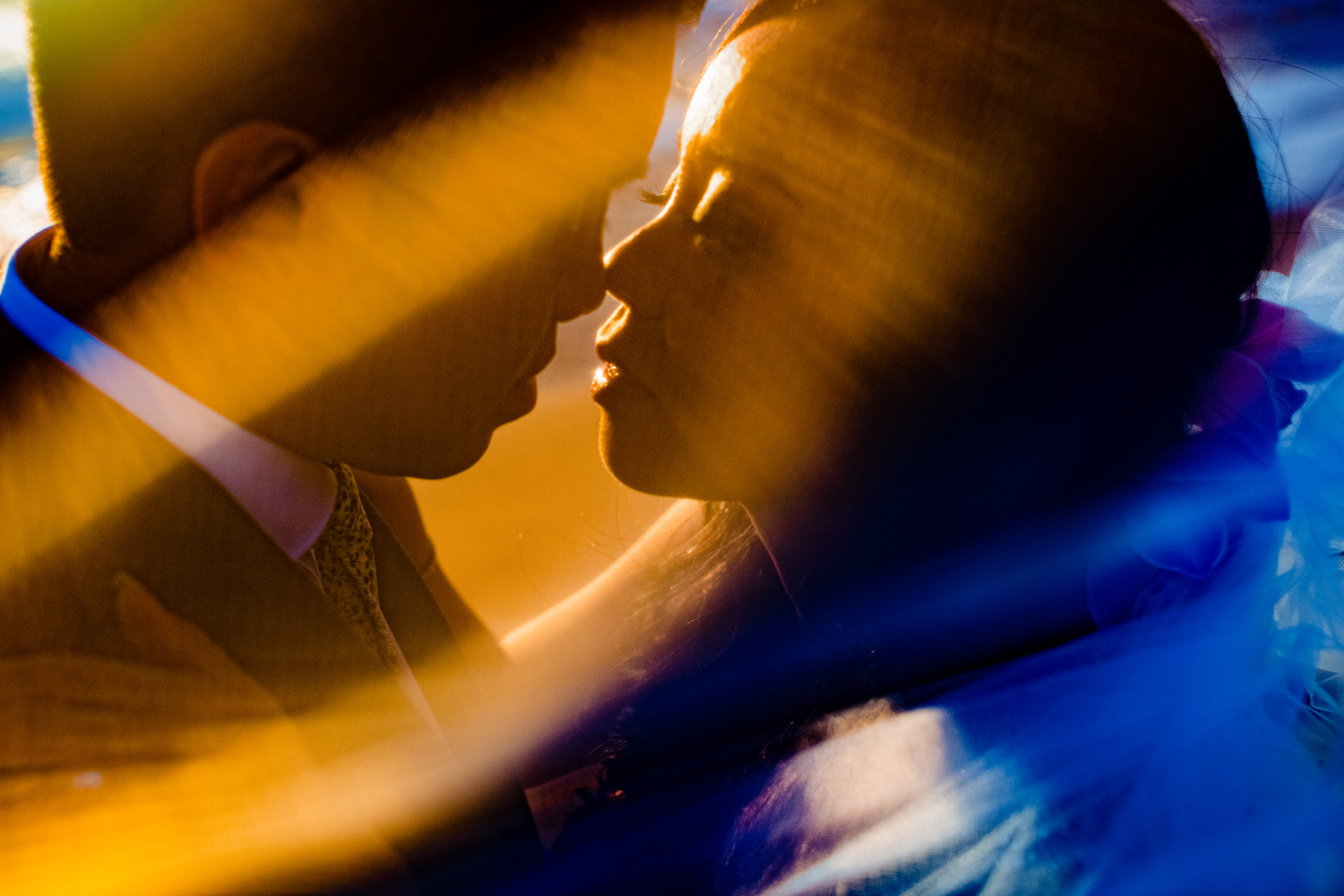Face to face couple portrait - photo by Angela Nelson Photography