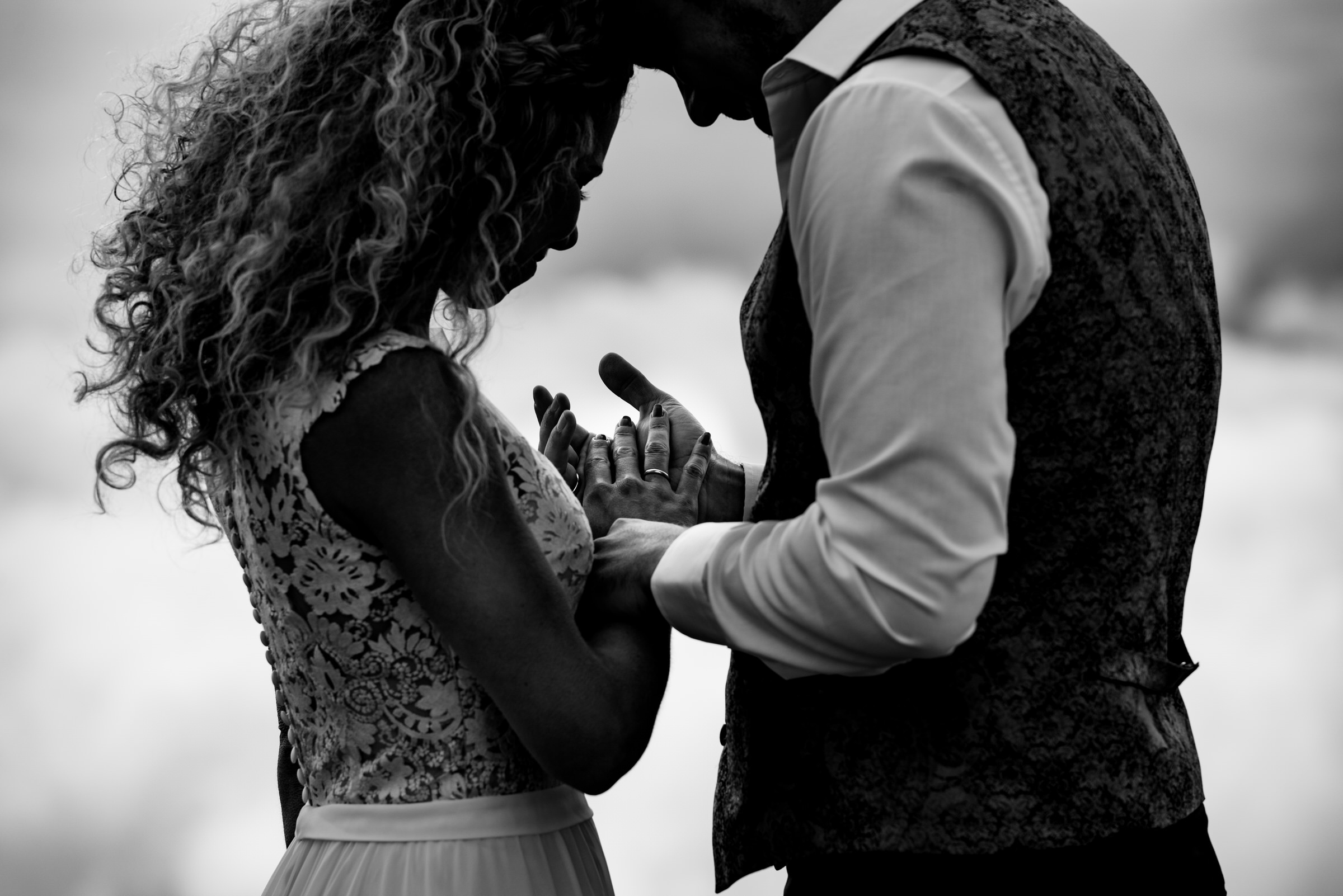 Intimate couple portrait with wedding ring - photo by Angela Nelson Photography