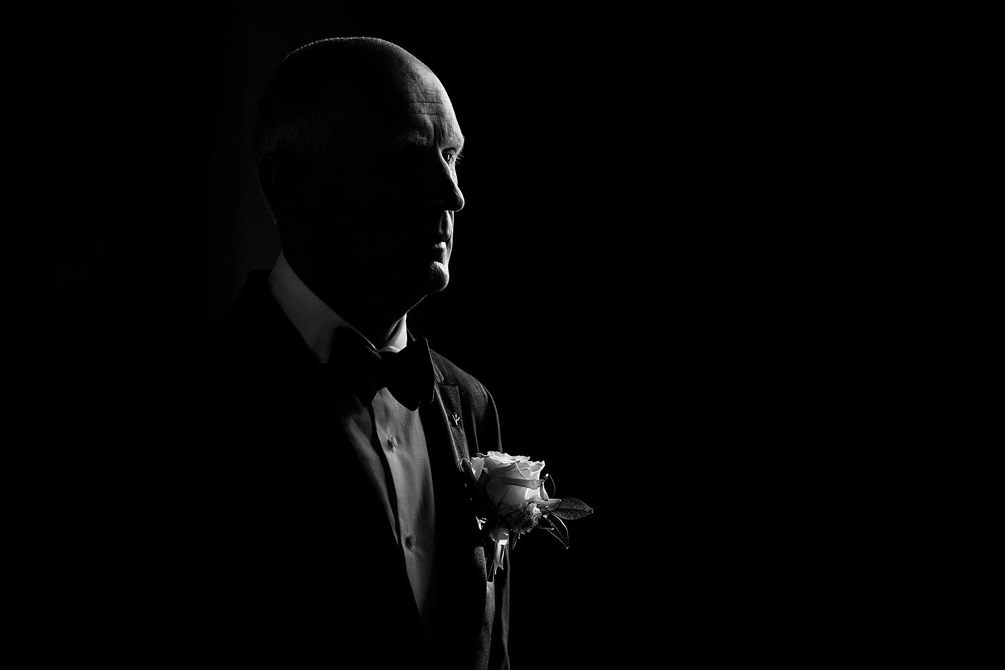 Side lit portrait of man - photo by Angela Nelson Photography