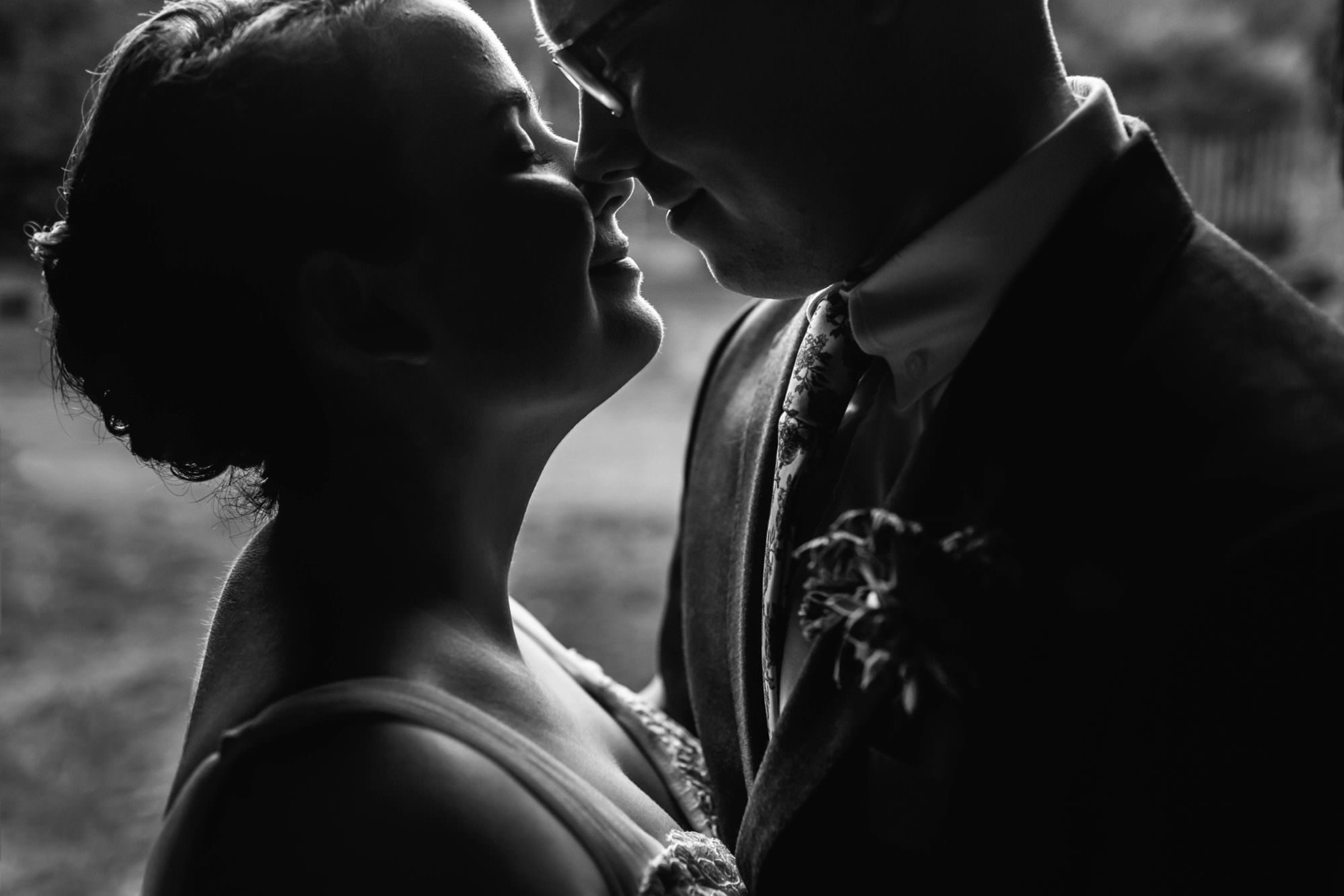 Intimate portrait of bride and groom - photo by Photography by Brea