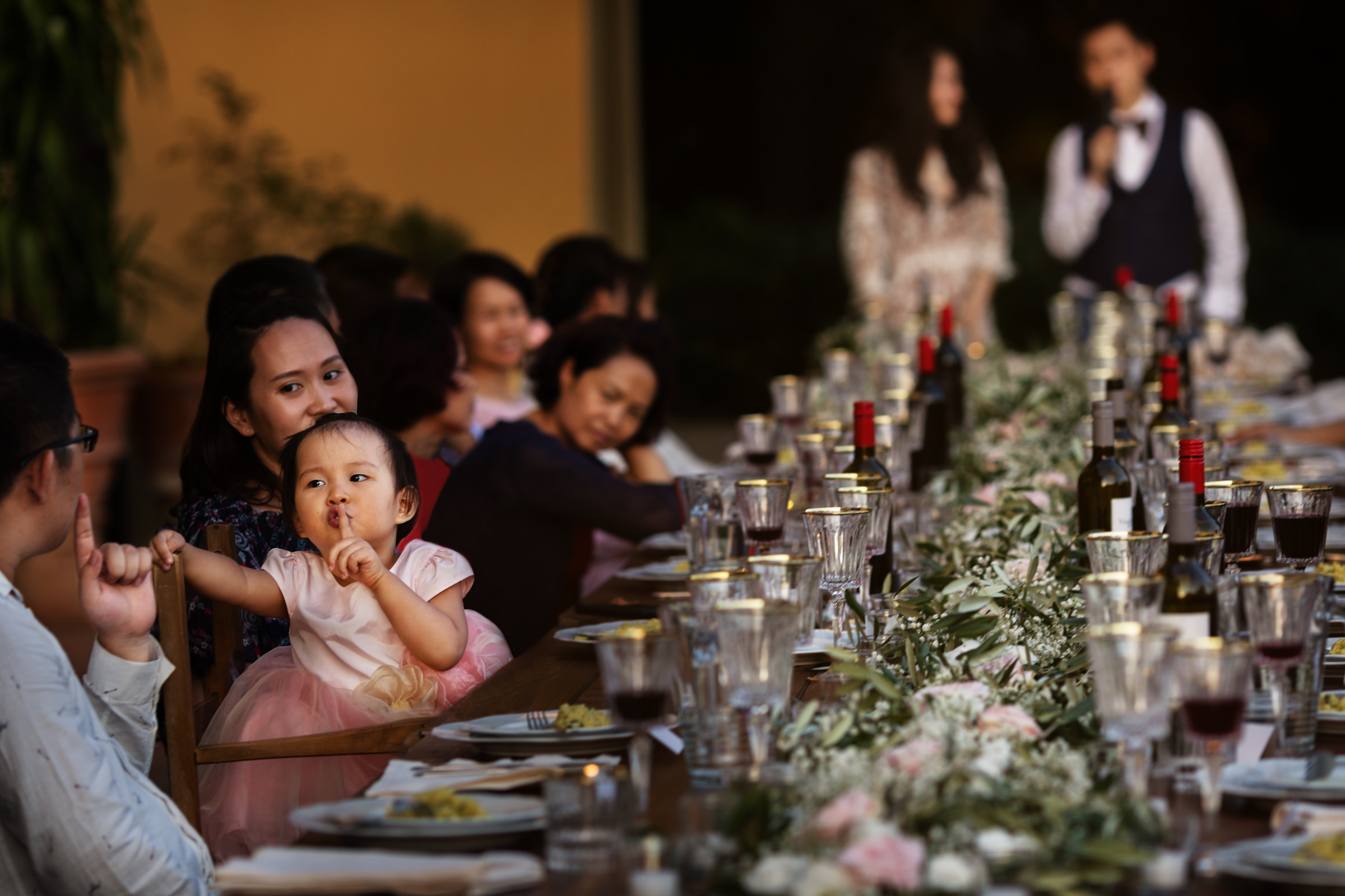 Sweet little girl at reception table - photo by D2 Photography