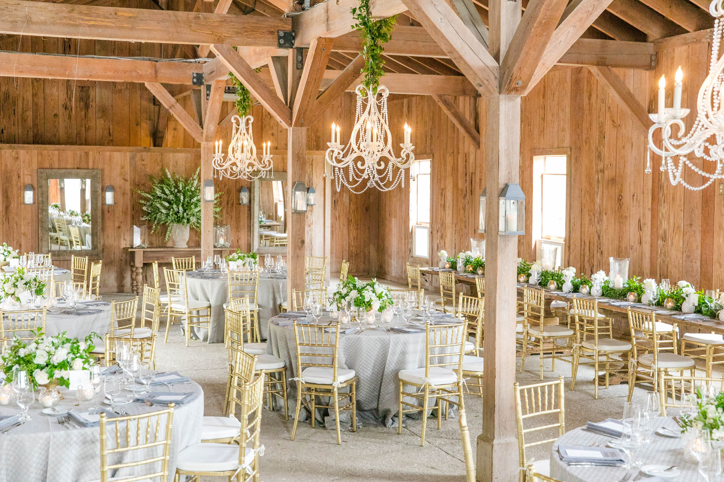 light and airy reception venue - photo by Dana Cubbage Weddings