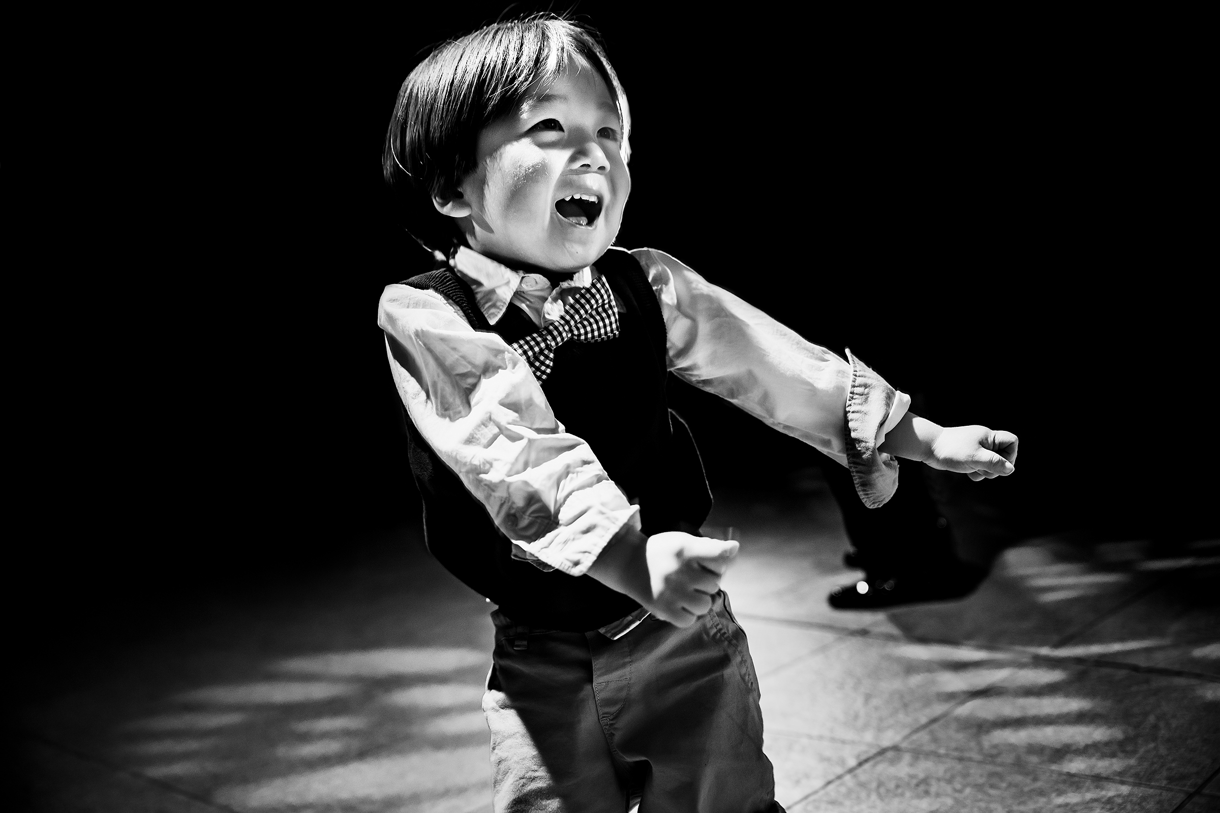 Little boy on dance floor - photo by J La Plante Photo