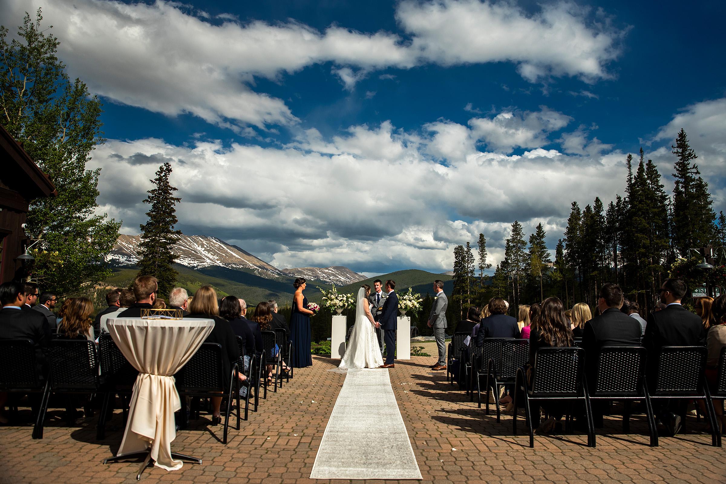 Wedding Ceremony at Tenmile Station Colorado - photo by J. La Plante Photo