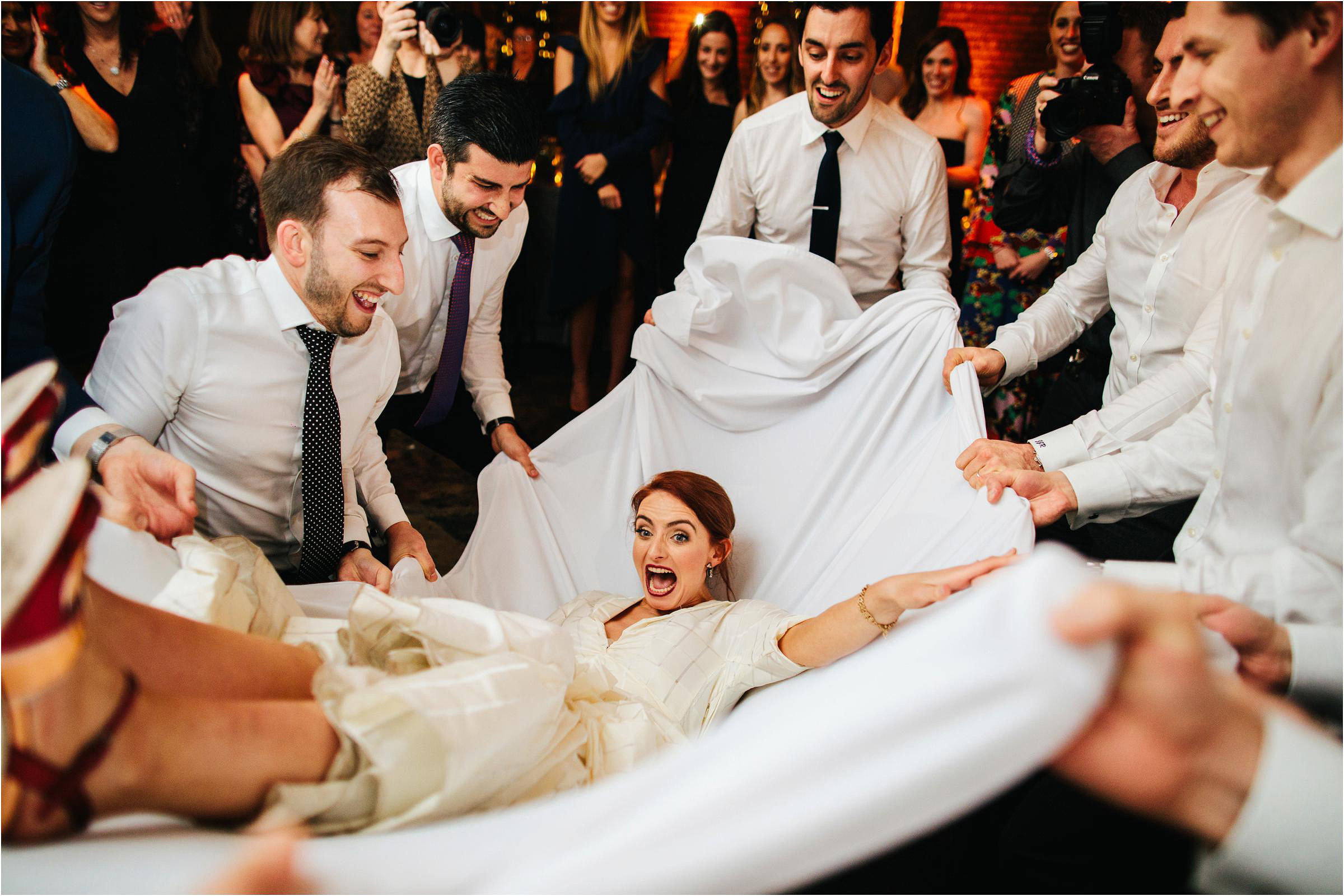 Bridal toss  - photo by The Crawleys