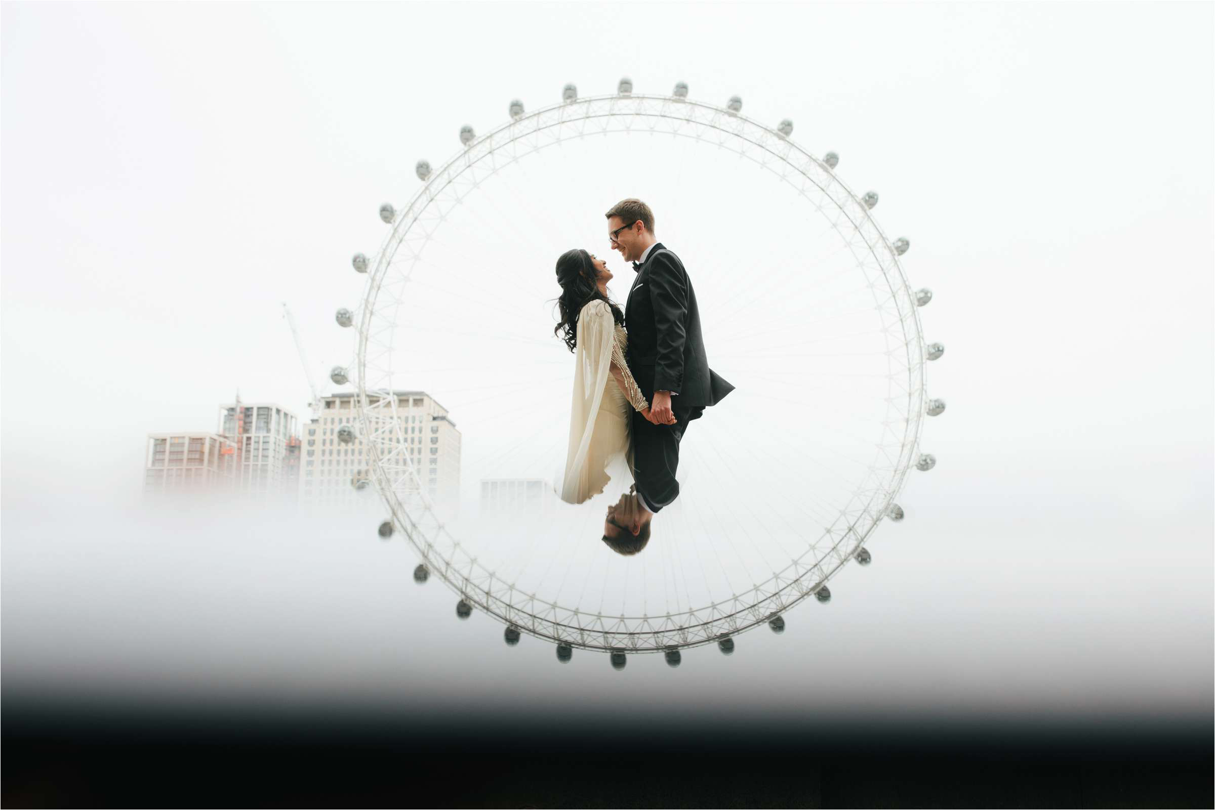 Couple pictured inside ferris wheel - photo by The Crawleys