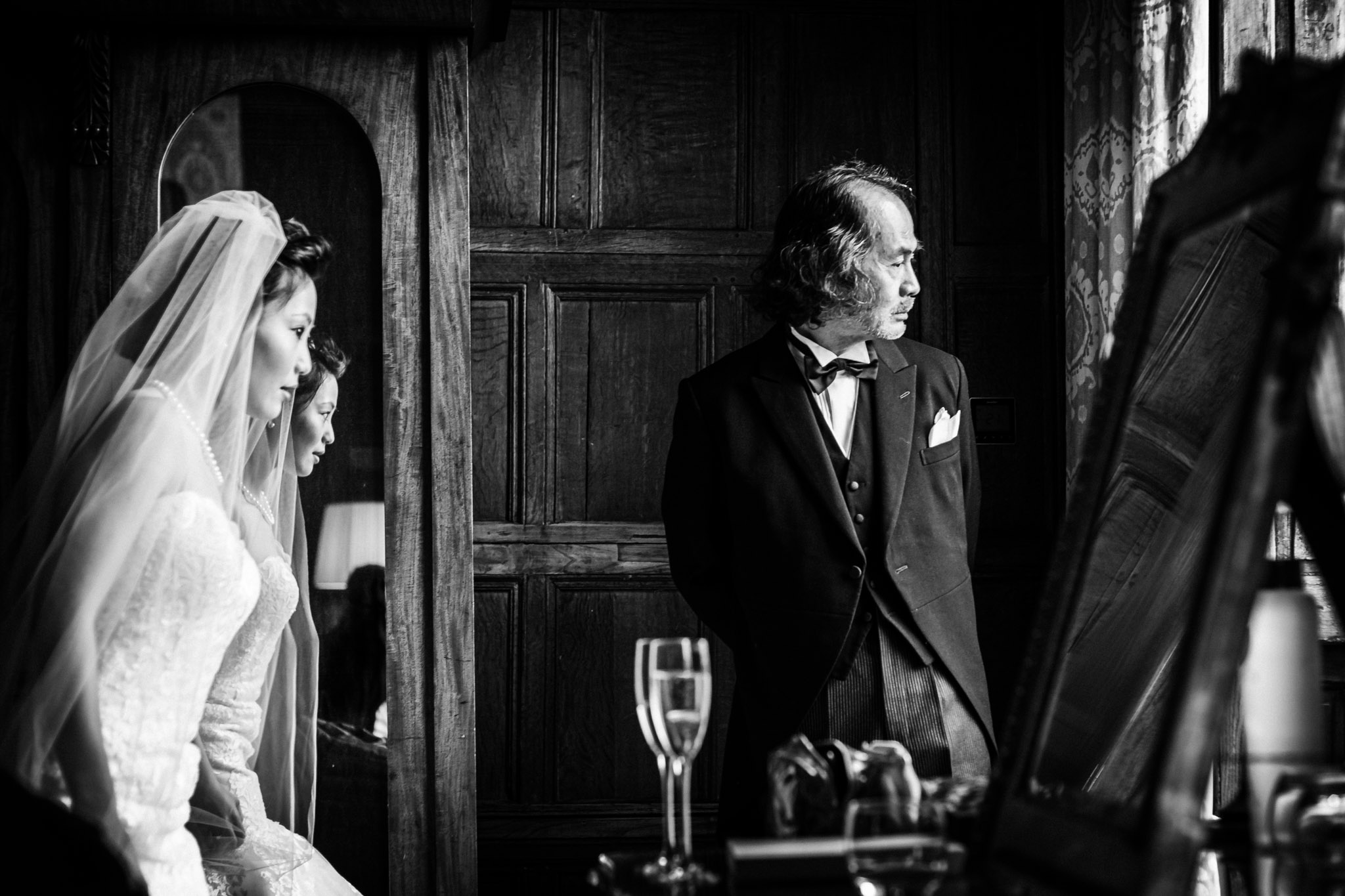 Bride and father await the groom's arrival - photo by Andrew Billington Photography