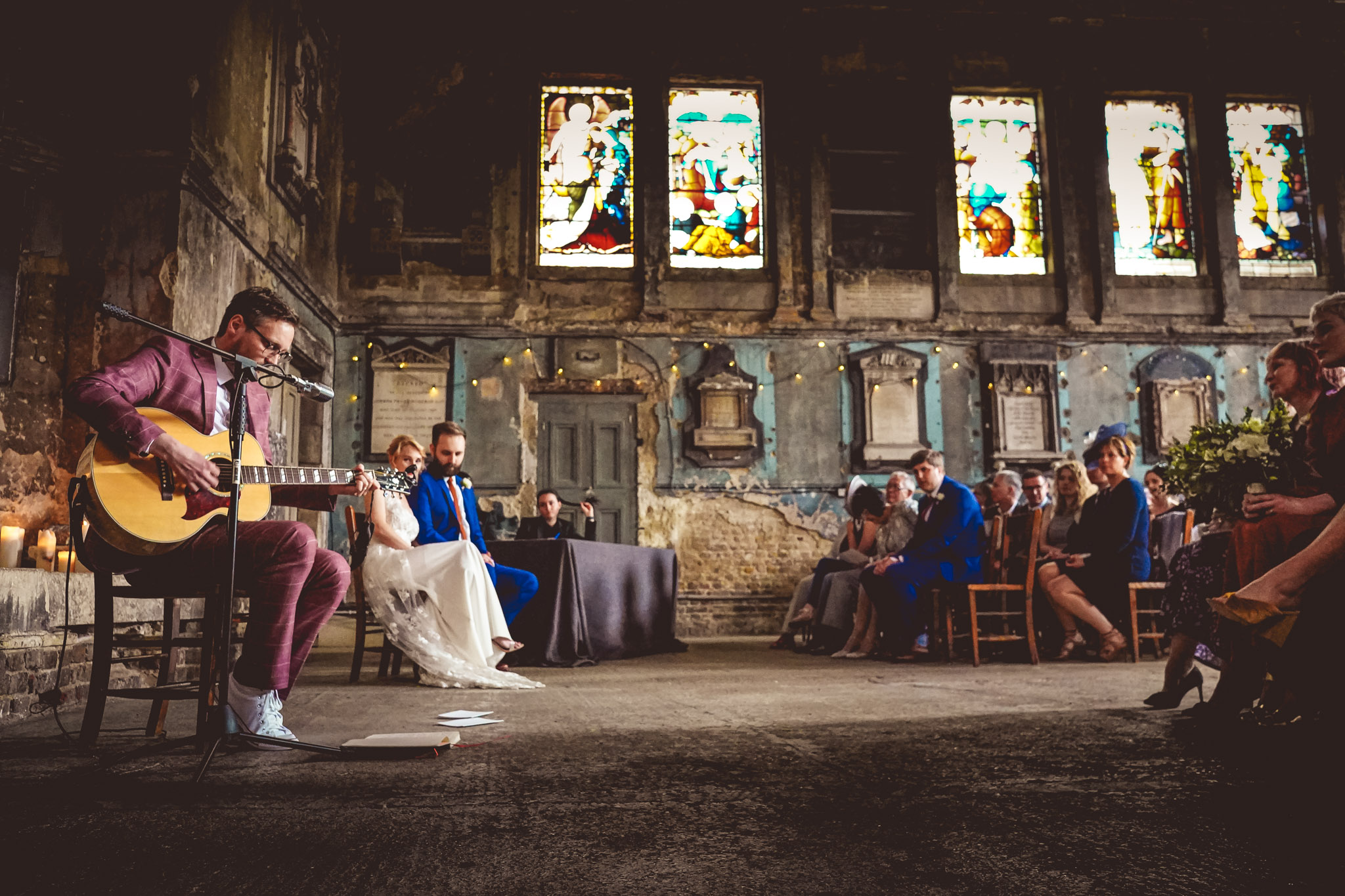 Ceremony at St Dunstan's - photo by Andrew Billington Photography