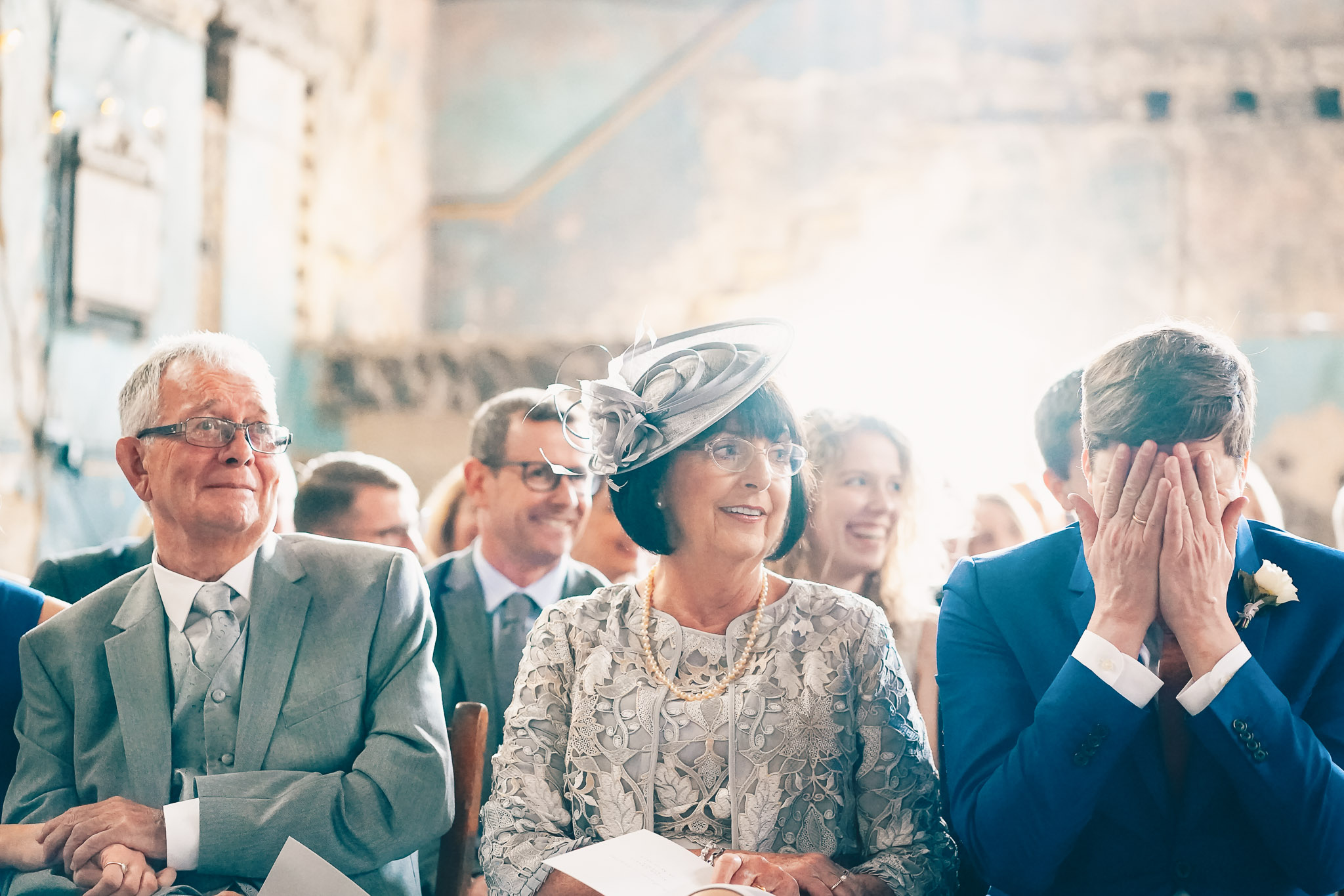 Emotional moment for ceremony guests - photo by Andrew Billington Photography