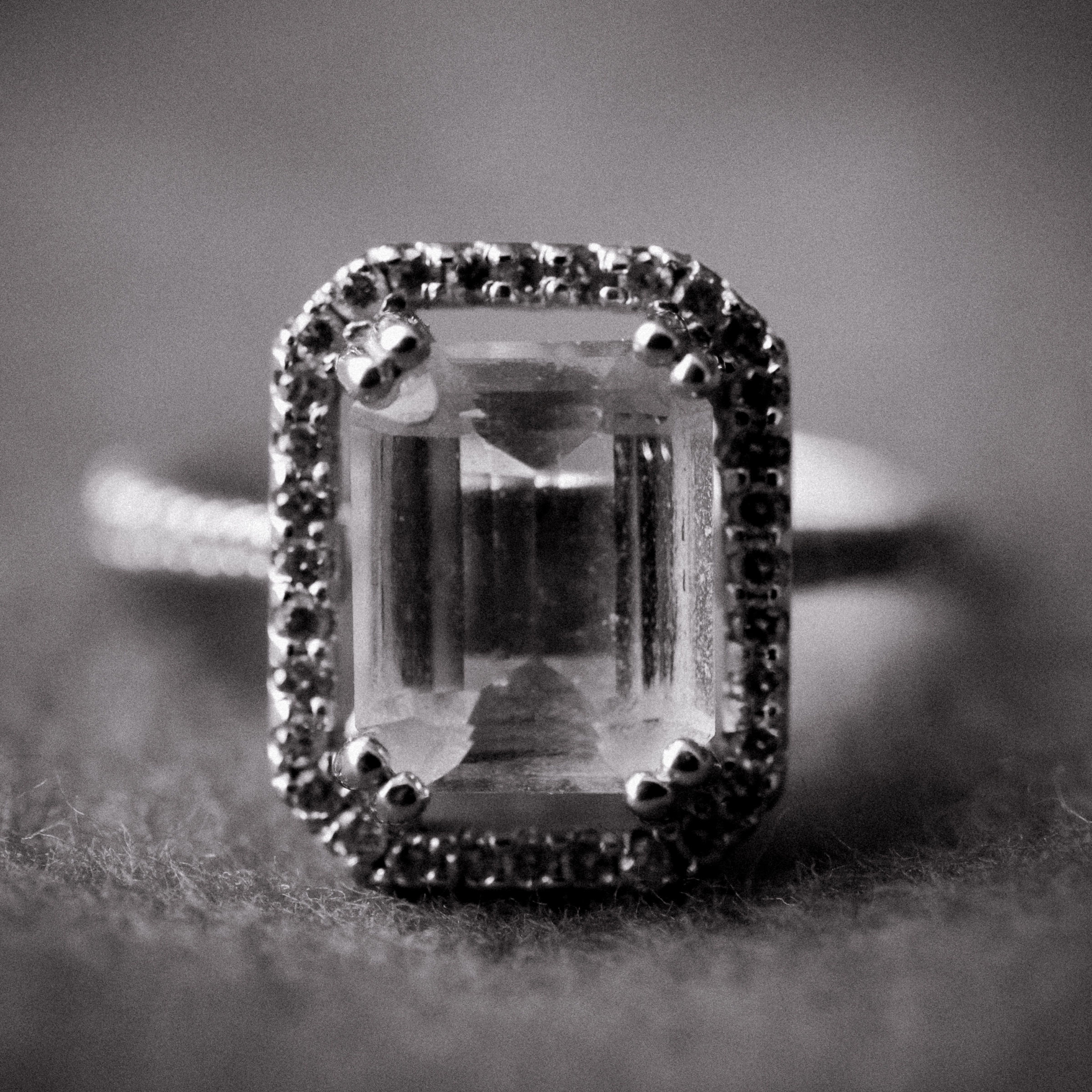 black and white diamond wedding ring shot - photo by Dark Roux