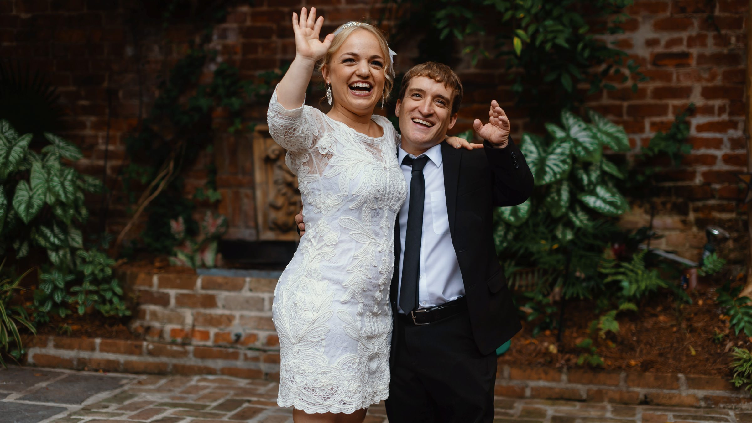 bride and groom fun portrait-new orleans-austin-houston-wedding- photo by Dark Roux