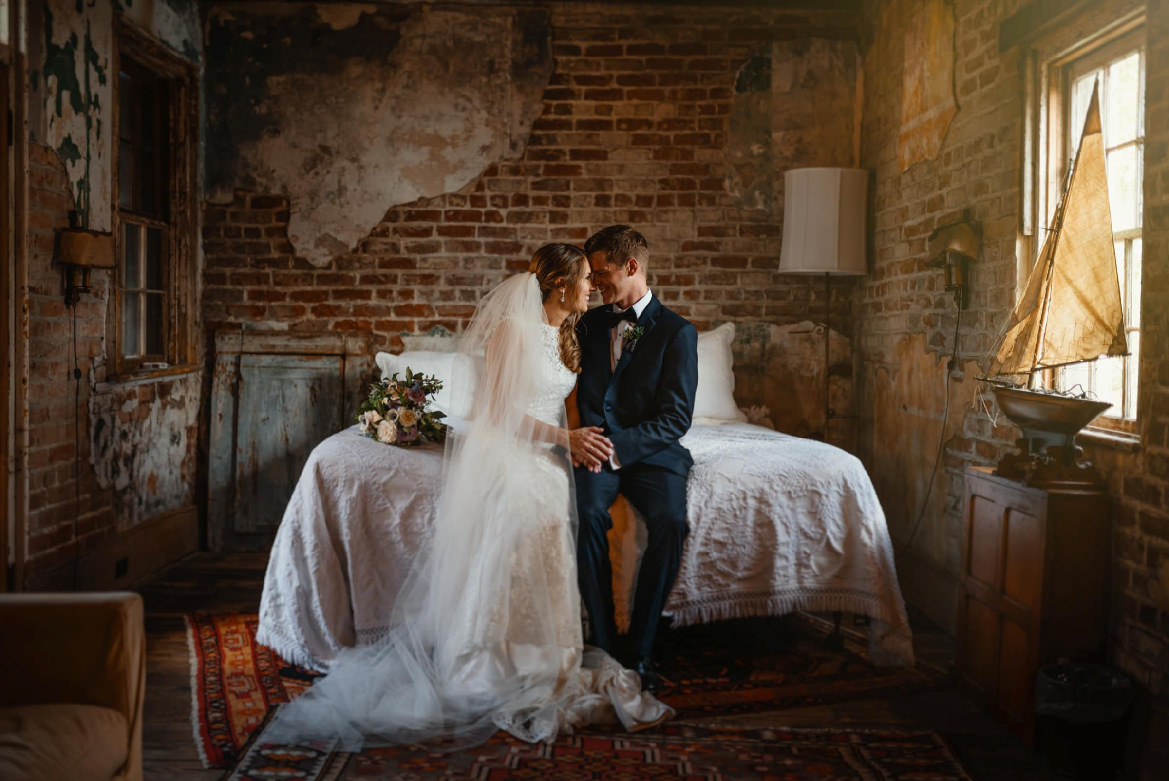 bride and groom taking a moment together after ceremony-new orleans-austin-houston- photo by Dark Roux
