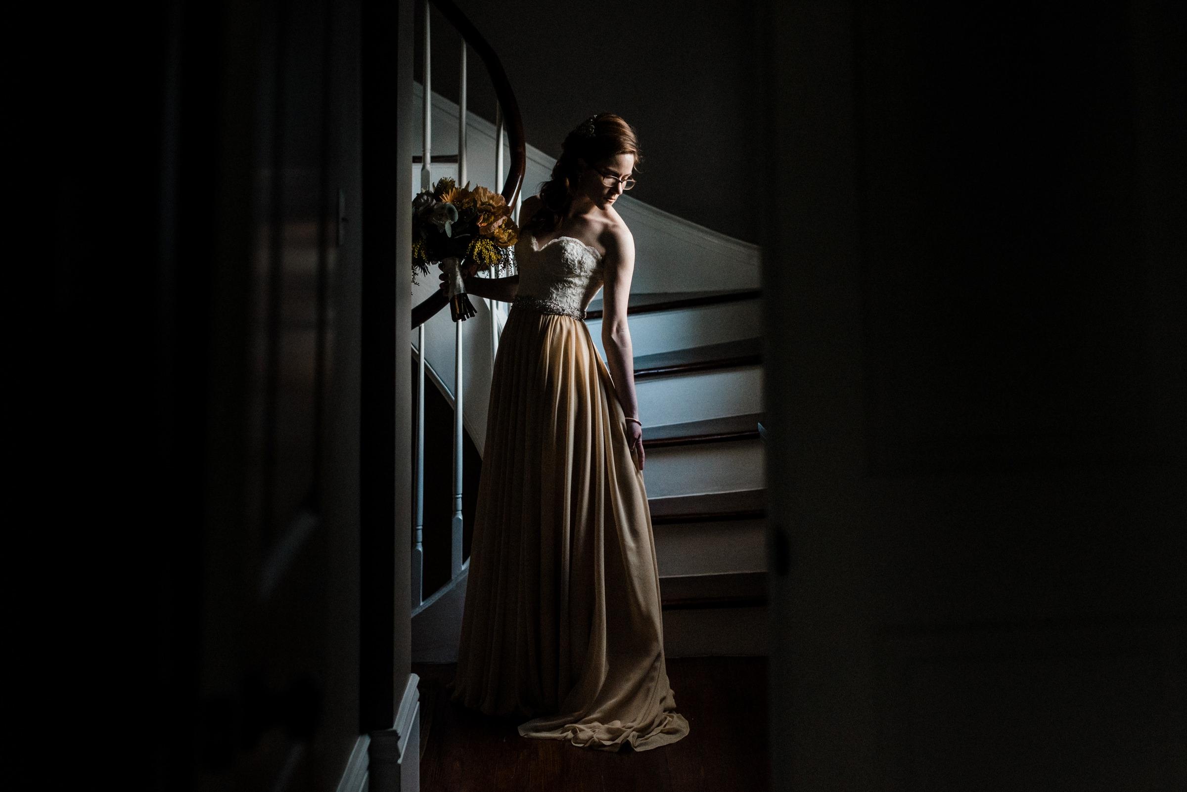 bride natural lit portrait-new orleans-austin-houston-wedding- photo by Dark Roux