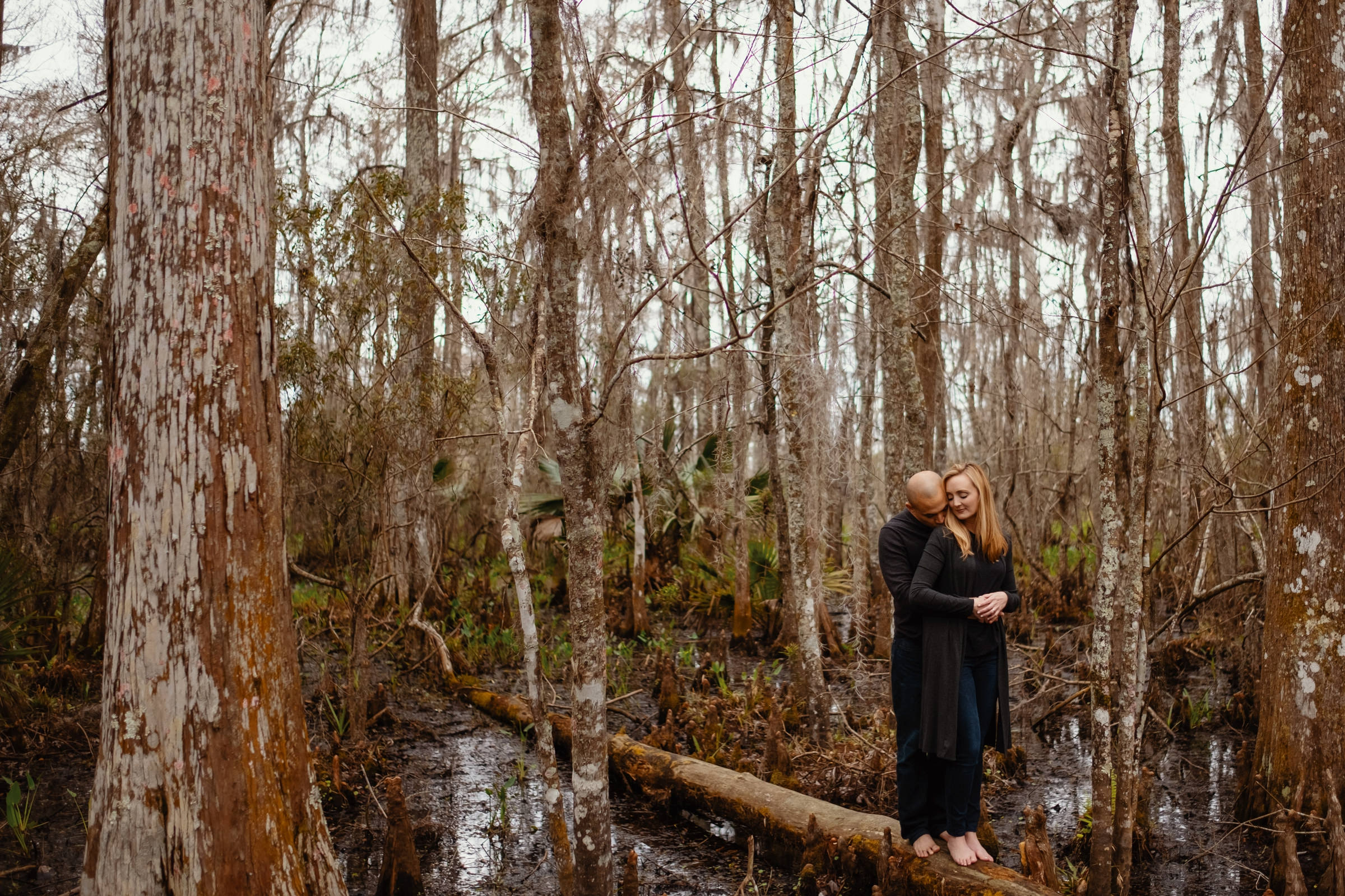 Portrait of couple in Bayou - photo by Dark Roux