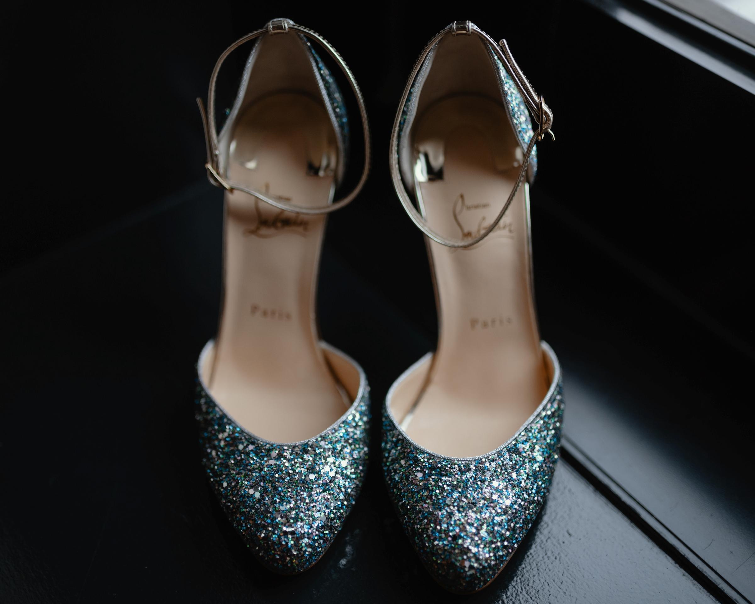 silver sparkly shoe detail photo-new orleans-austin-houston- photo by Dark Roux
