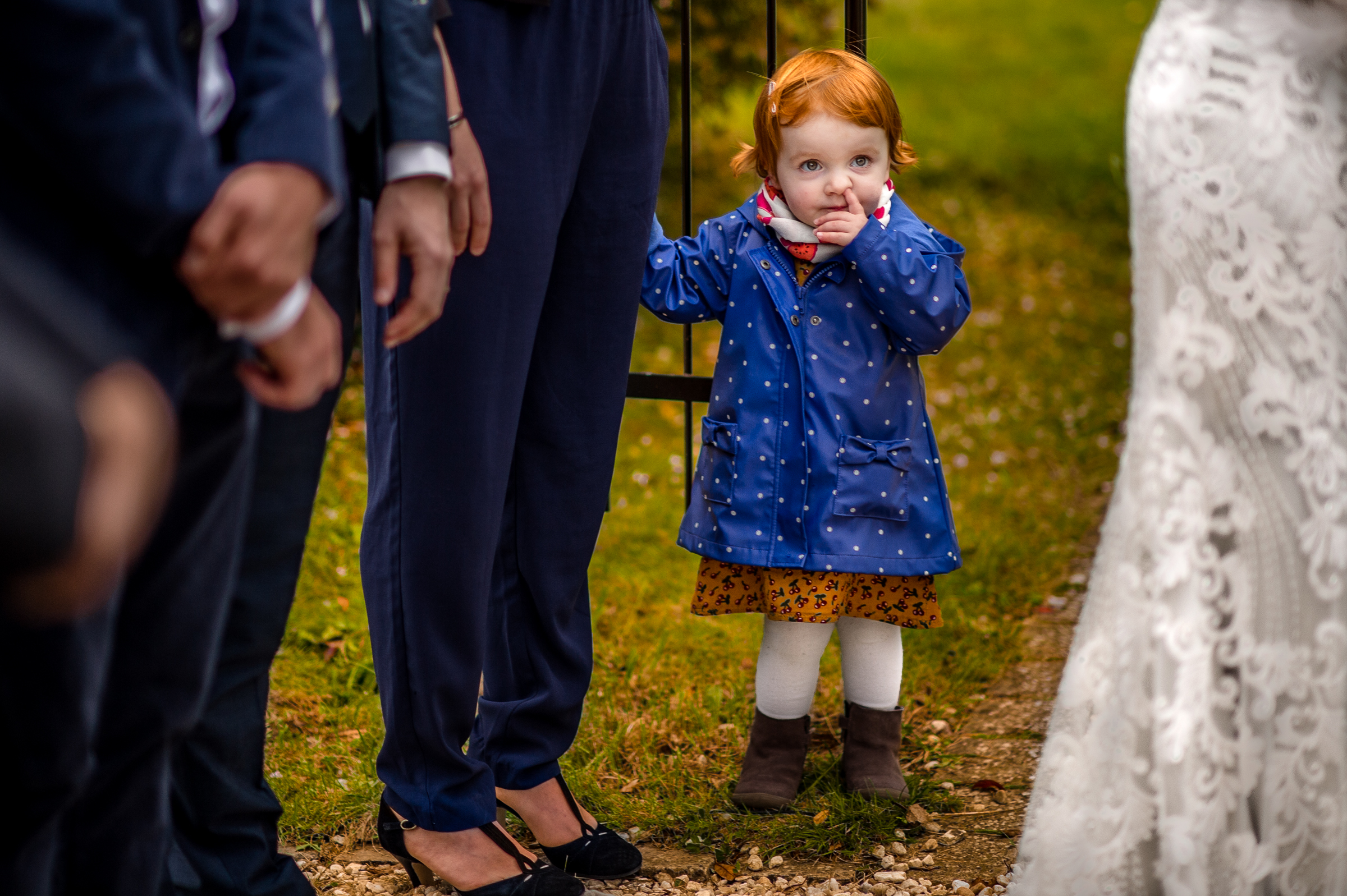Little girl at ceremony - photo by Gaelle Le Berre Photography