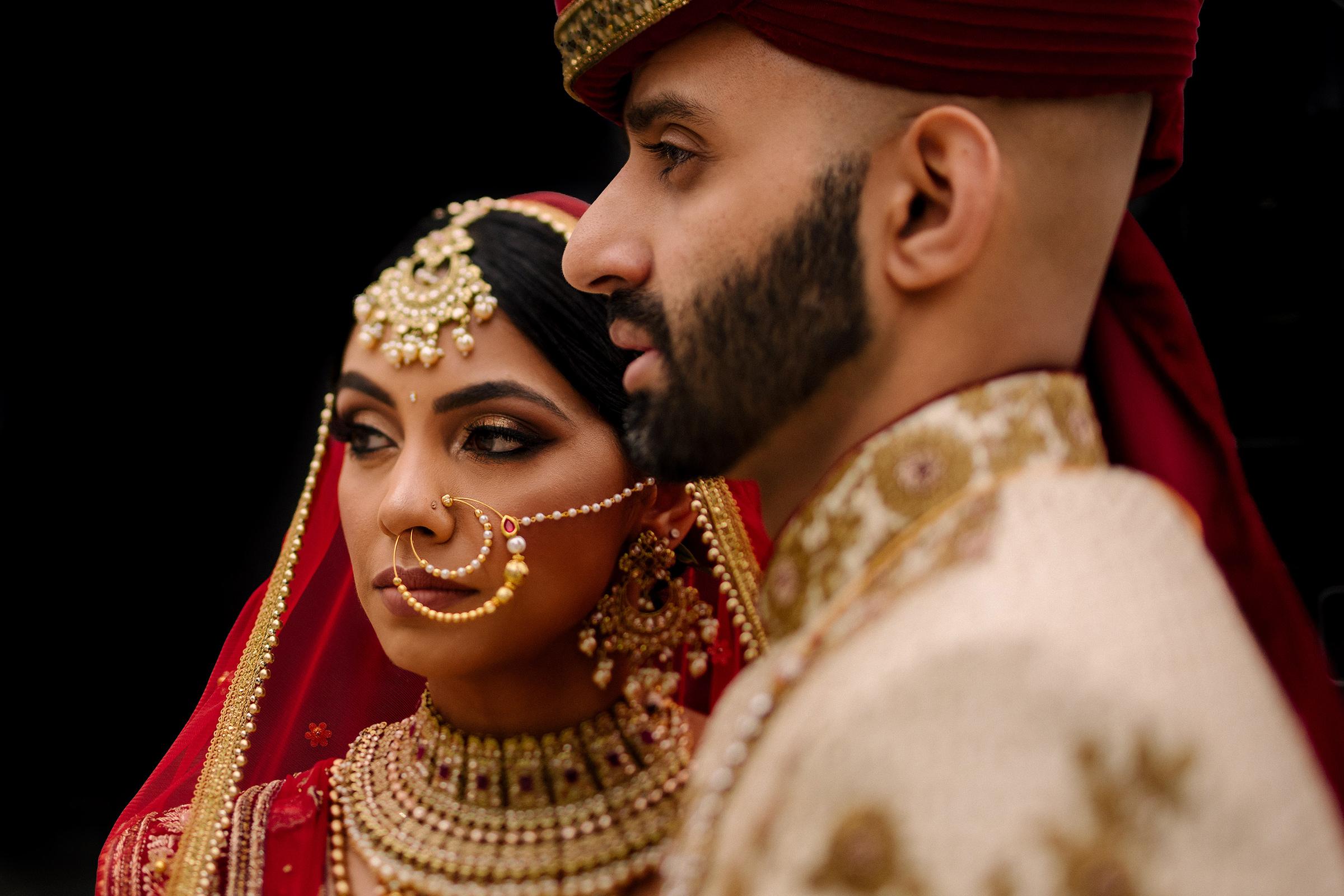 Elegant Indian couple portrait - photo by Matei Horvath Photography