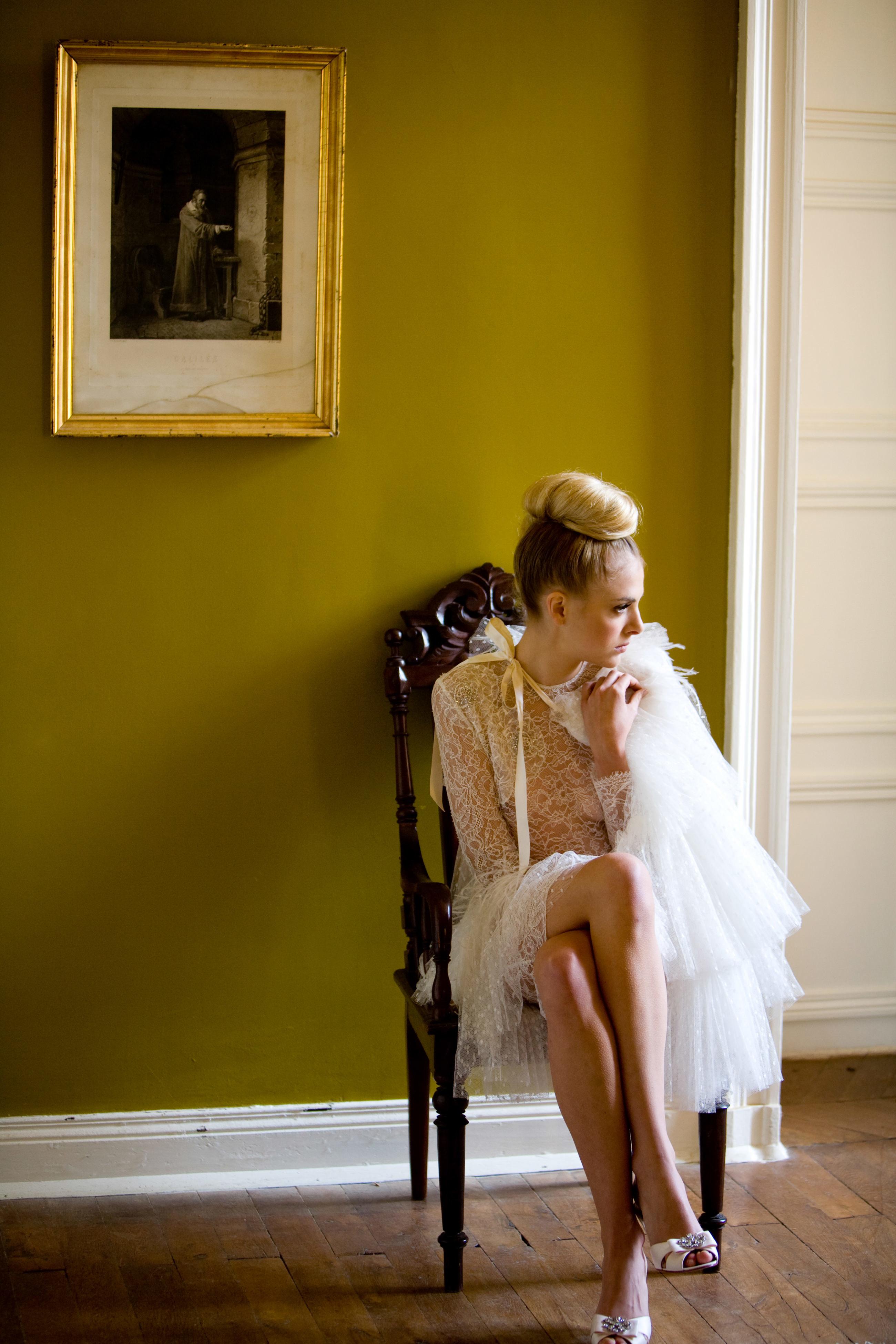 bride getting ready fashion portrait- photo by La Vie Photography, seattle