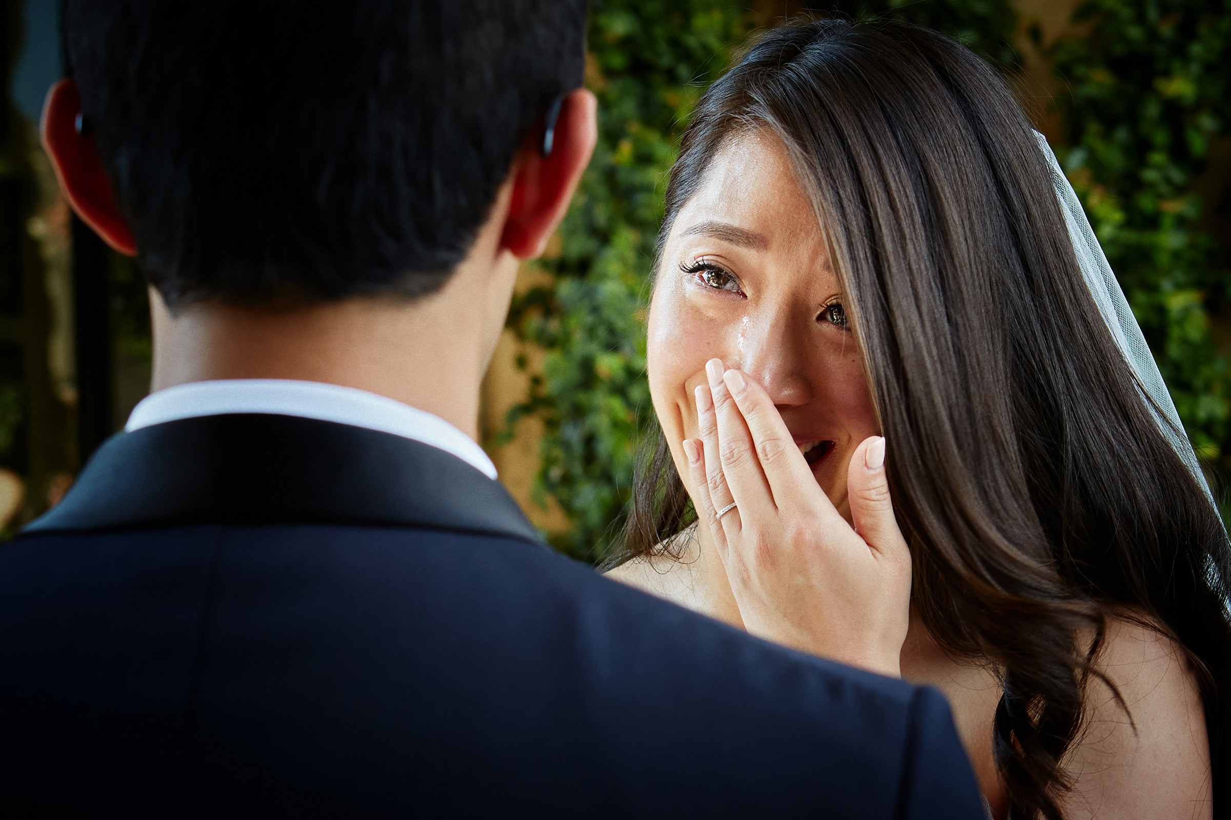 Tearful bride at ceremony - photo by Andrea Bagnasco Fotografie