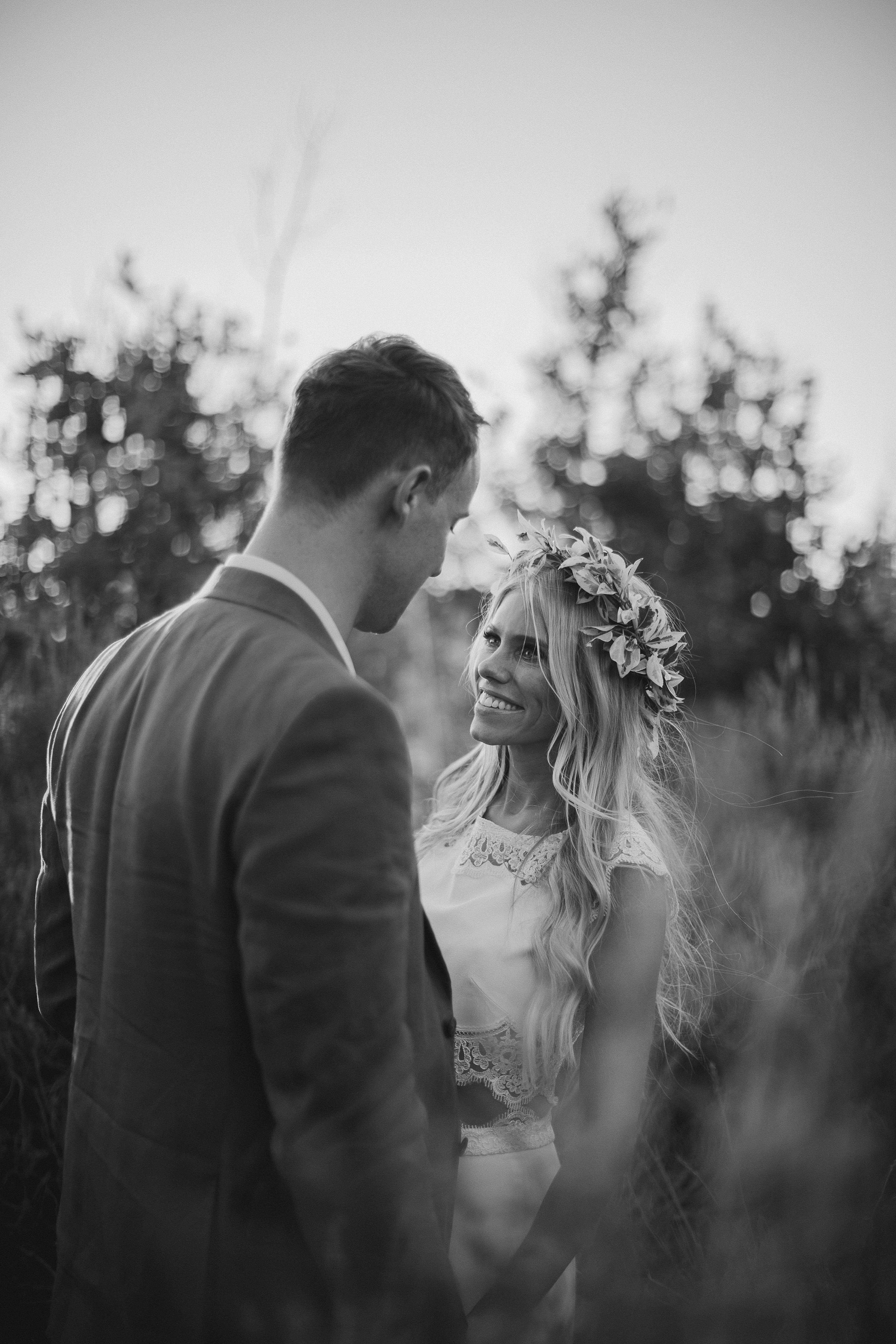 Face to face outdoor couple portrait - photo by Ed Peers Photography