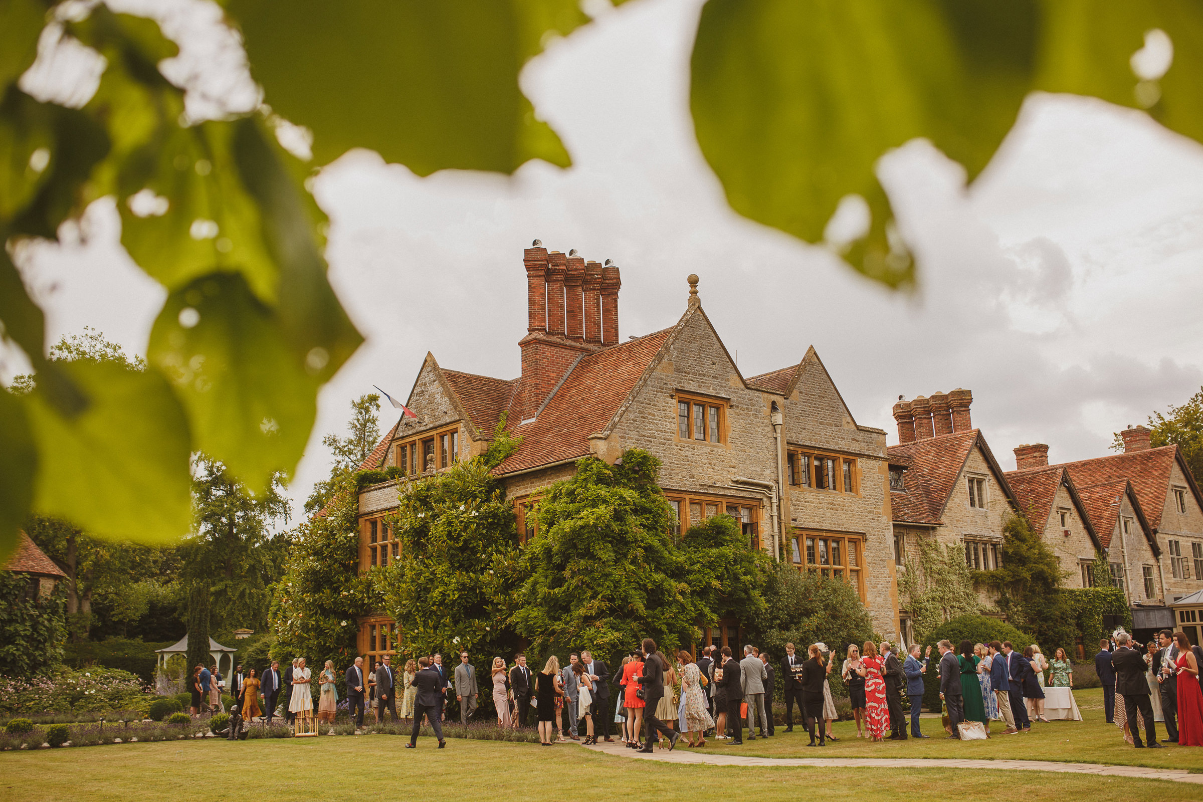 Guests gathered outside belmond le manoir aux quatsaisons - photo by Ed Peers Photography