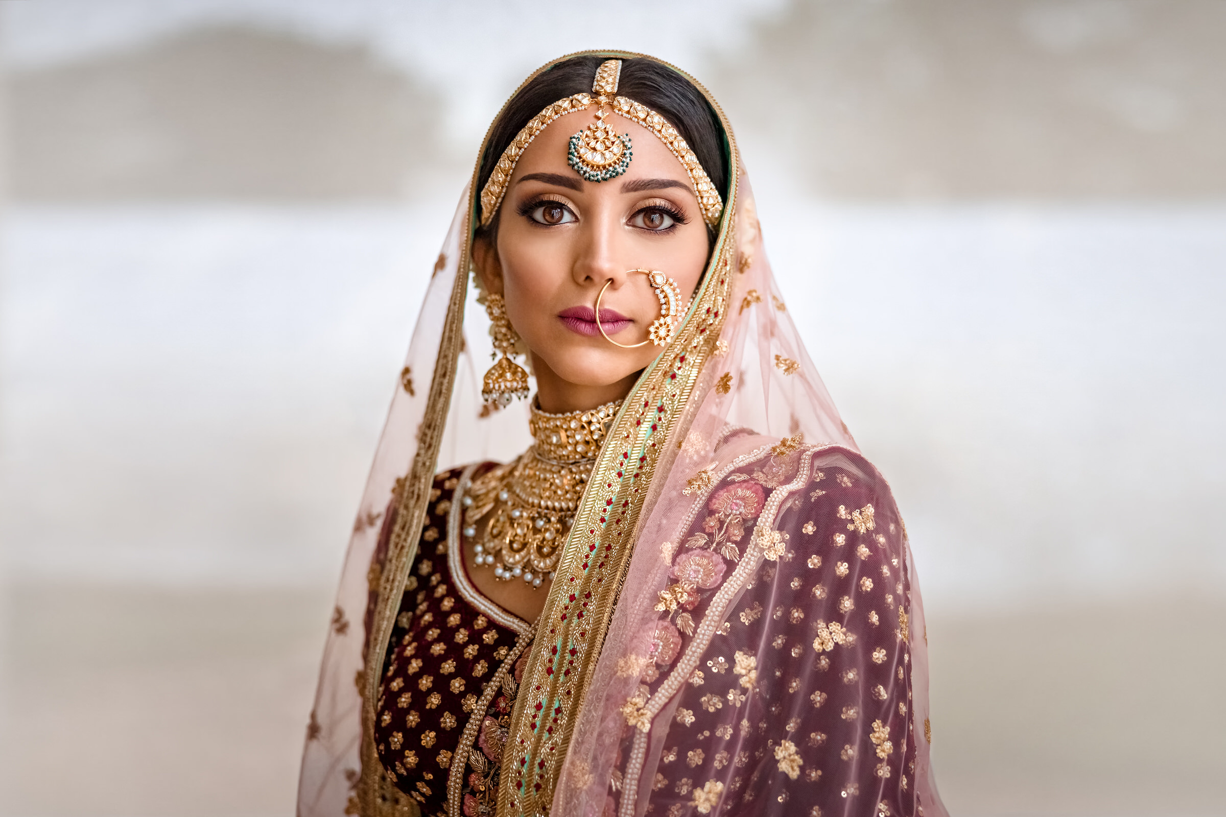 Head on Indian bride portrait - photo by Eye Jogia Photography