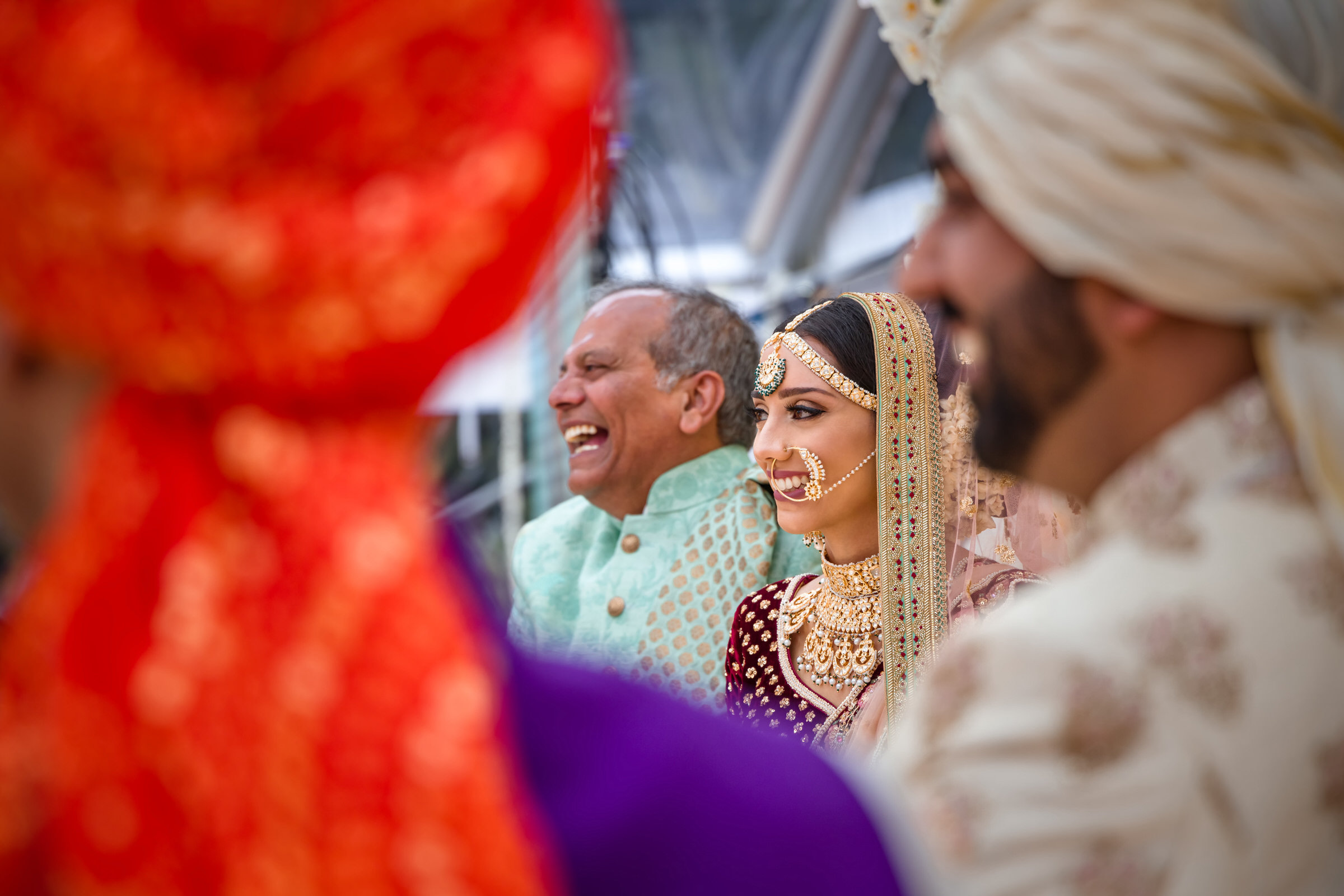 Indian bride and family - photo by Eye Jogia Photography