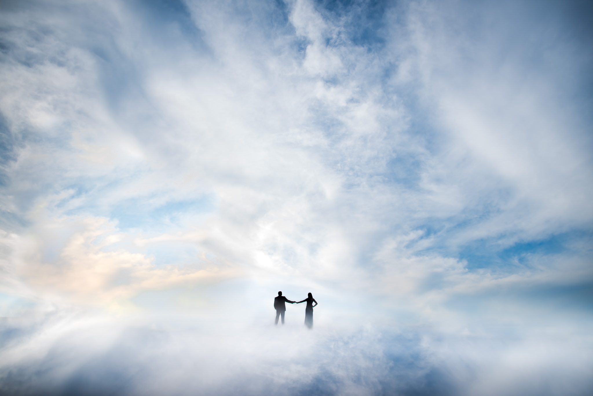 Walking on air couple portrait by Adibe Photography