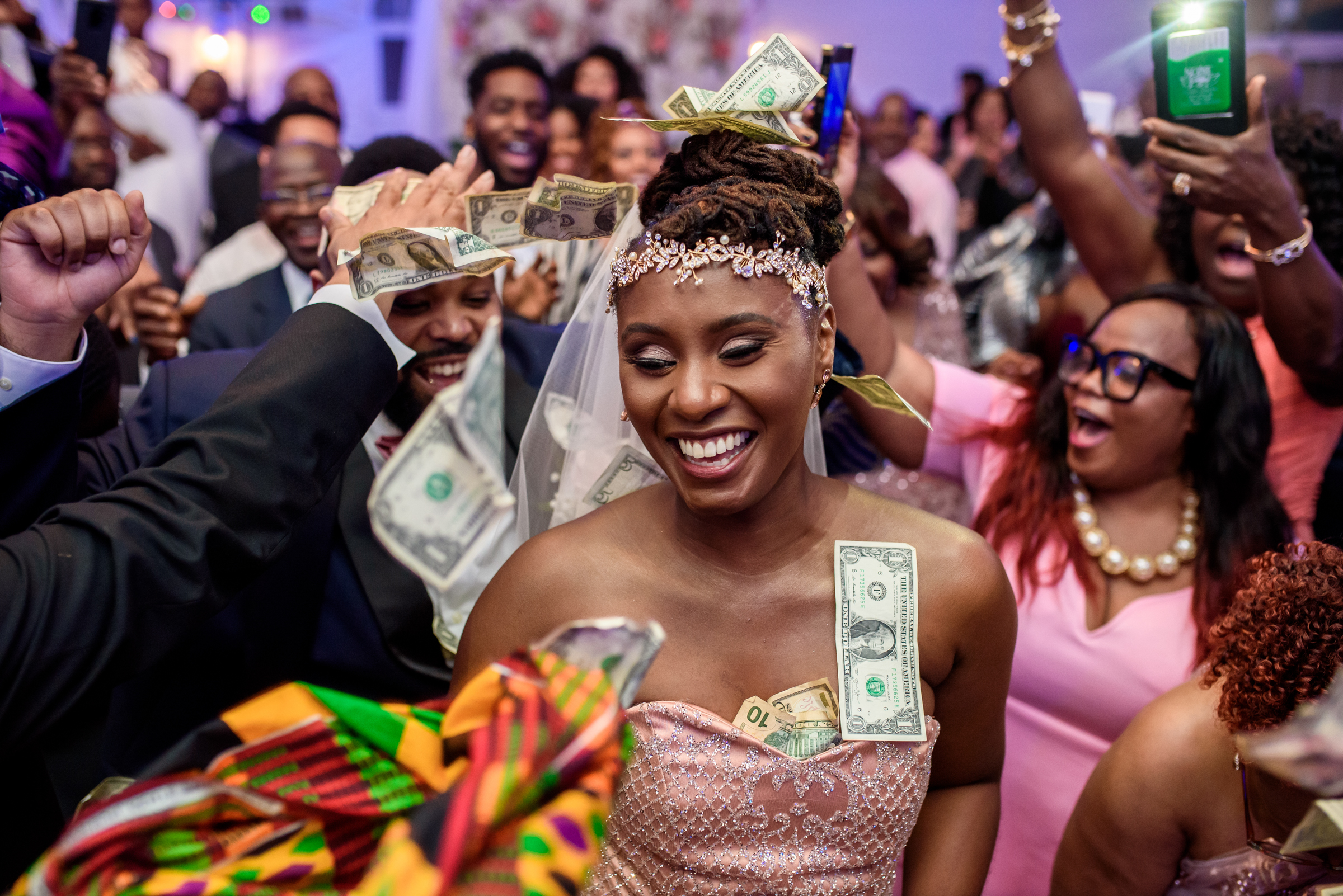 Money dance during reception - photo by Ashleigh Bing Photography