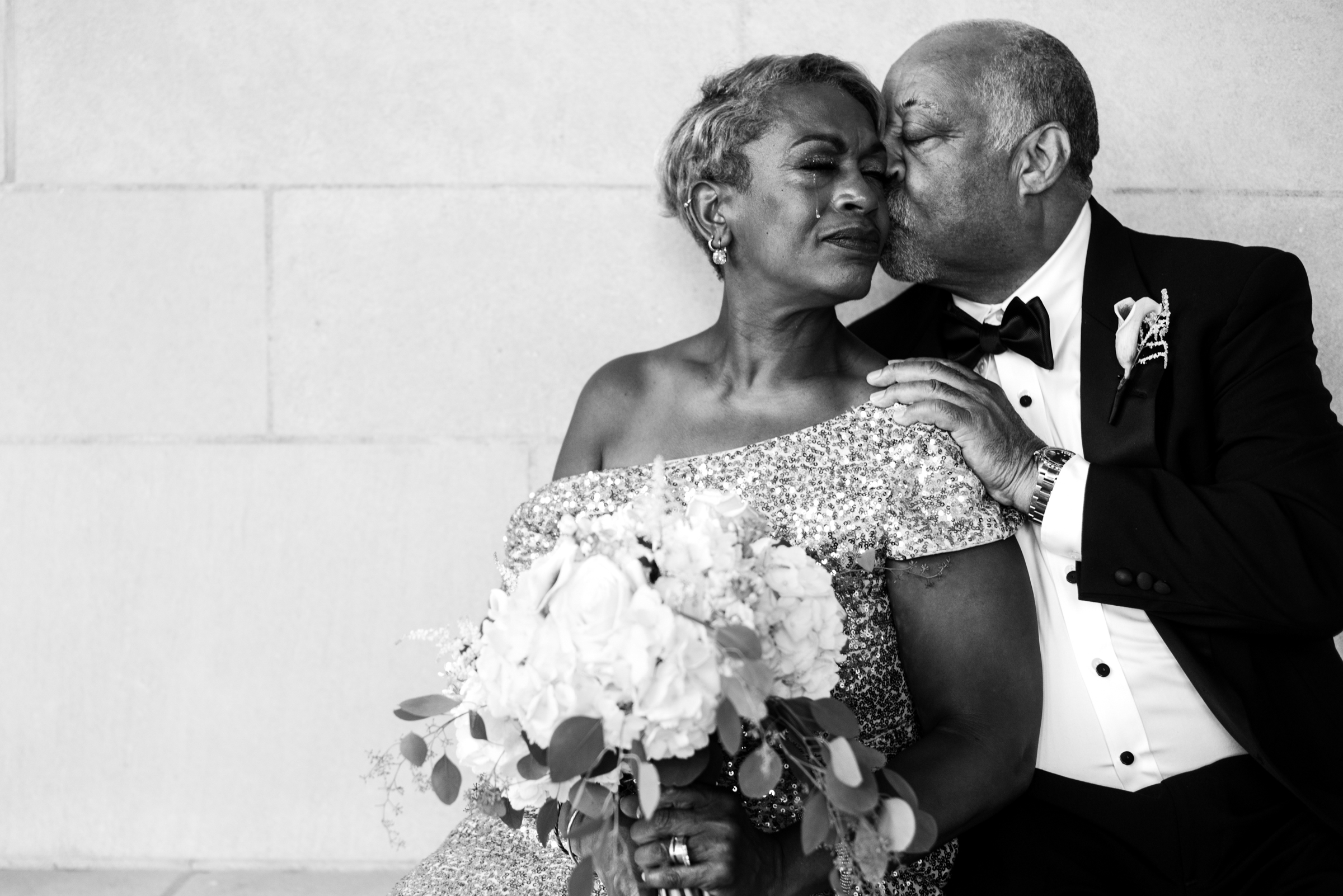Portrait of older bride and groom - photo by Ashleigh Bing Photography