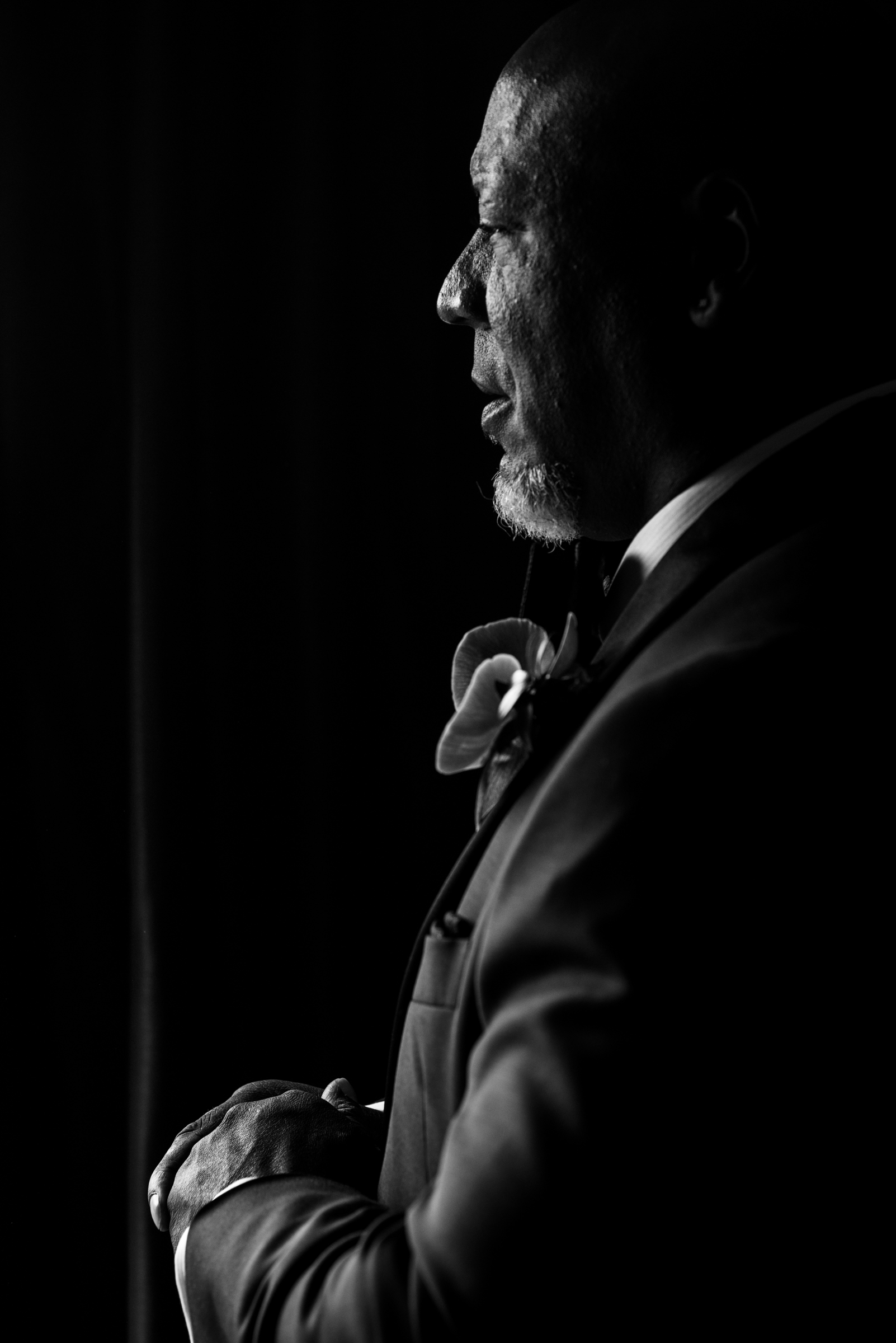 Profile portrait of father - photo by Ashleigh Bing Photography