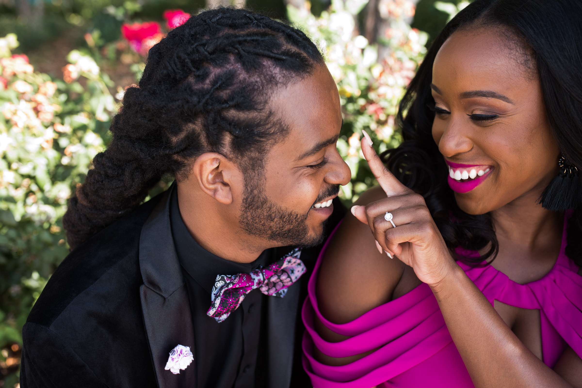 Sweet engagement couple moment - photo by Ashleigh Bing Photography