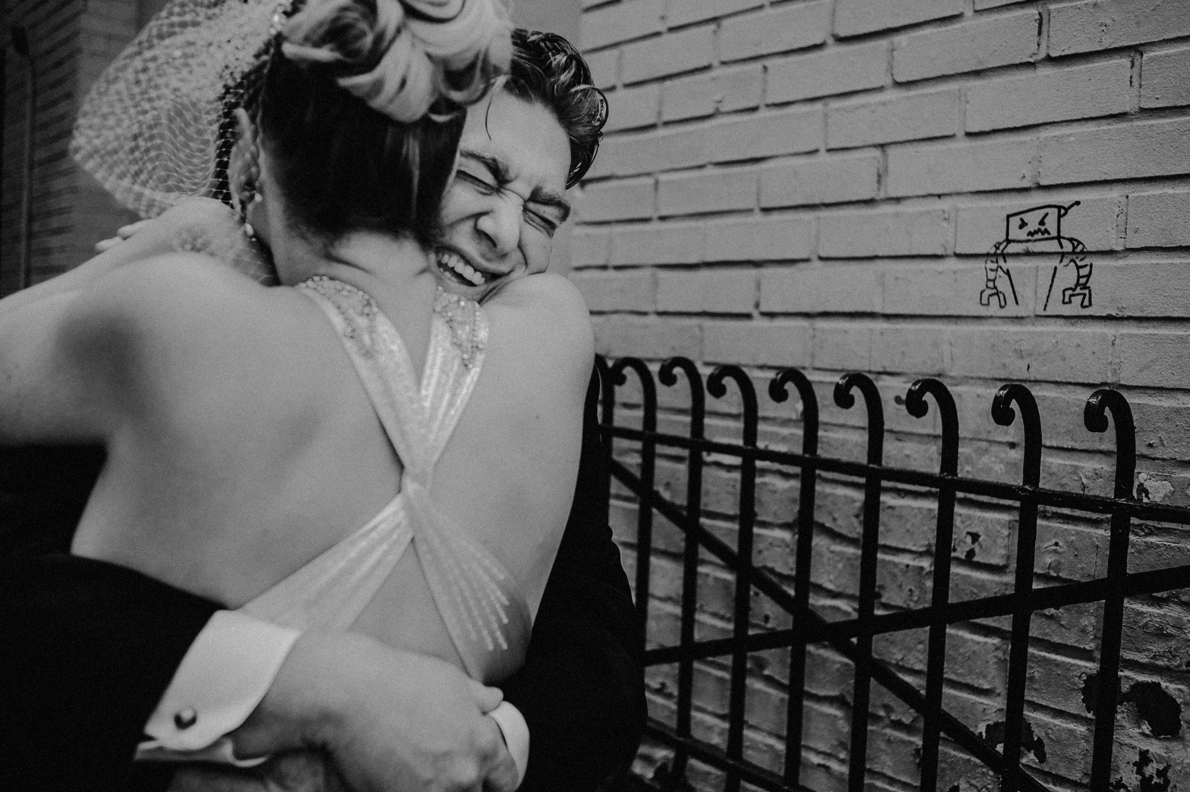 Impromptu hug - photo by Carolina Rivera Photography
