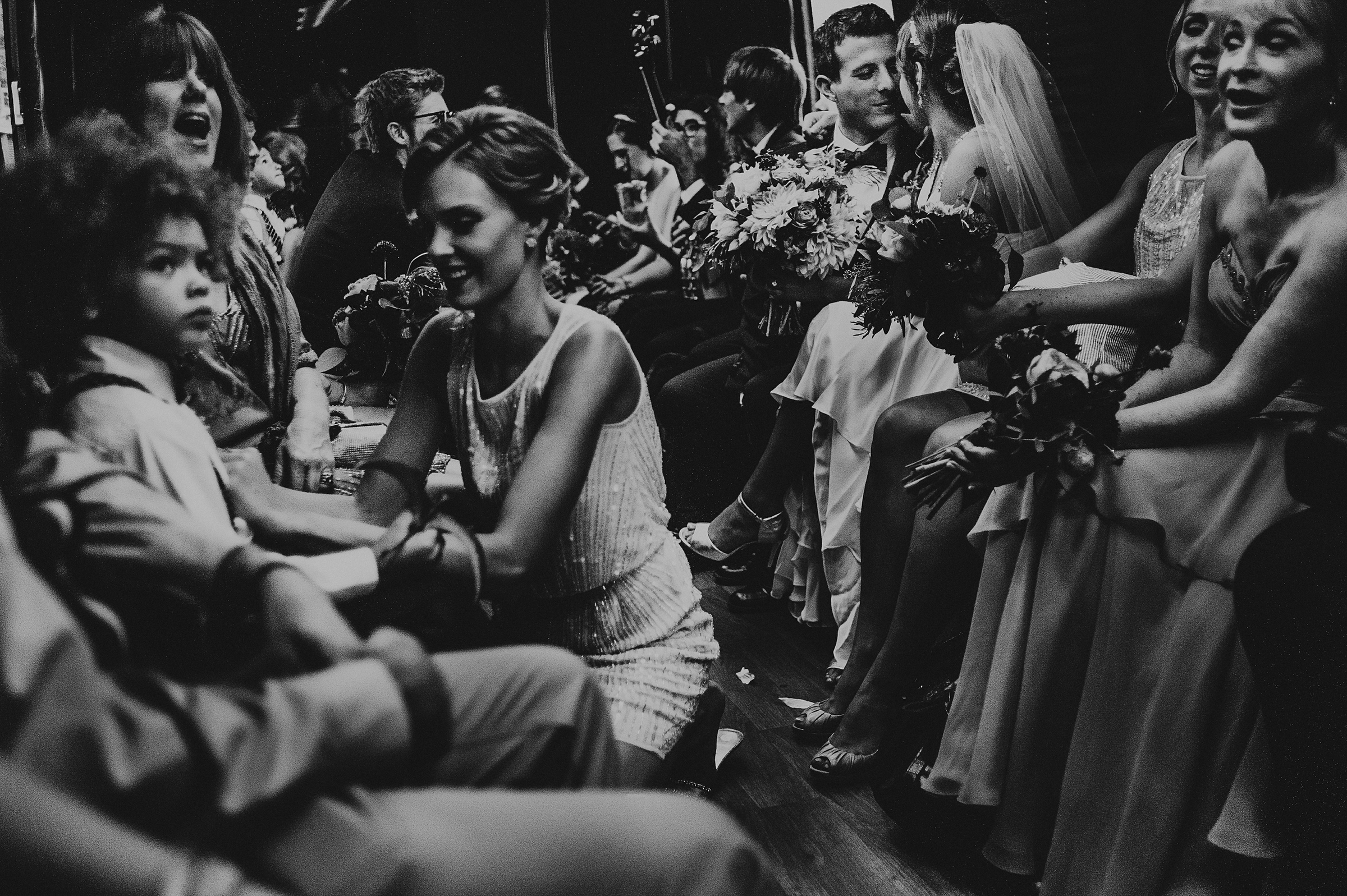 Seated guests candid - photo by Carolina Rivera Photography