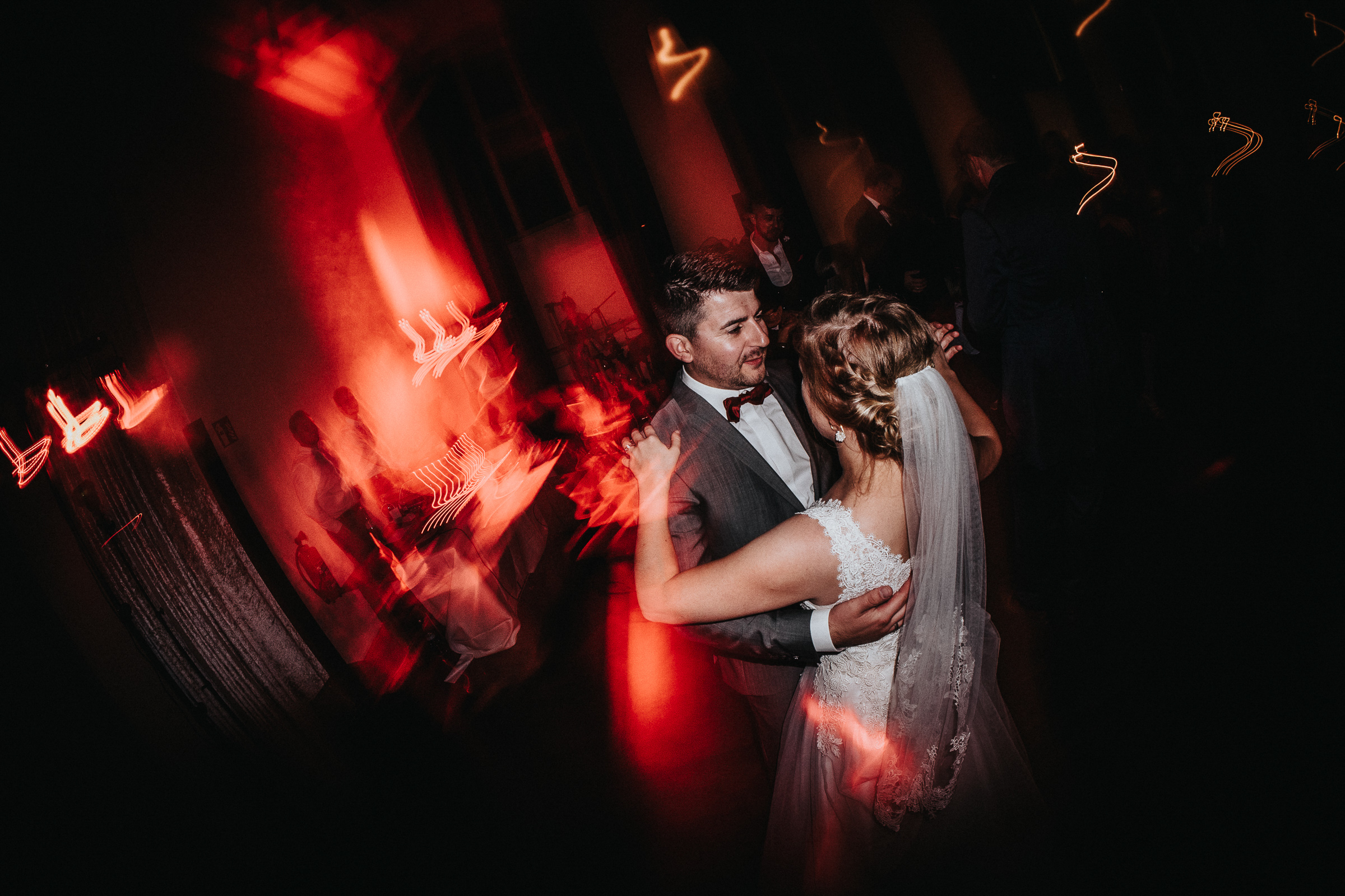 bride and groom dancing at reception- photo by FineArt Weddings   Photography