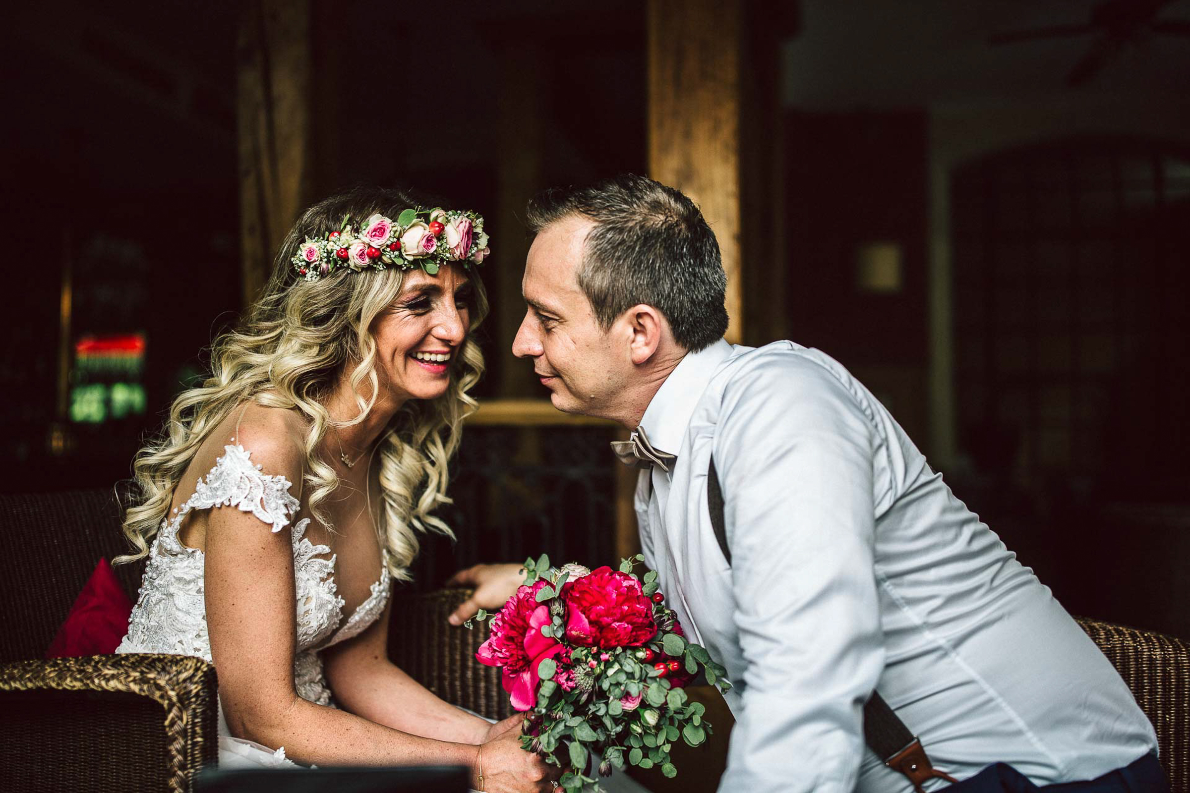bride and groom sweet moment together- photo by FineArt Weddings | Photography
