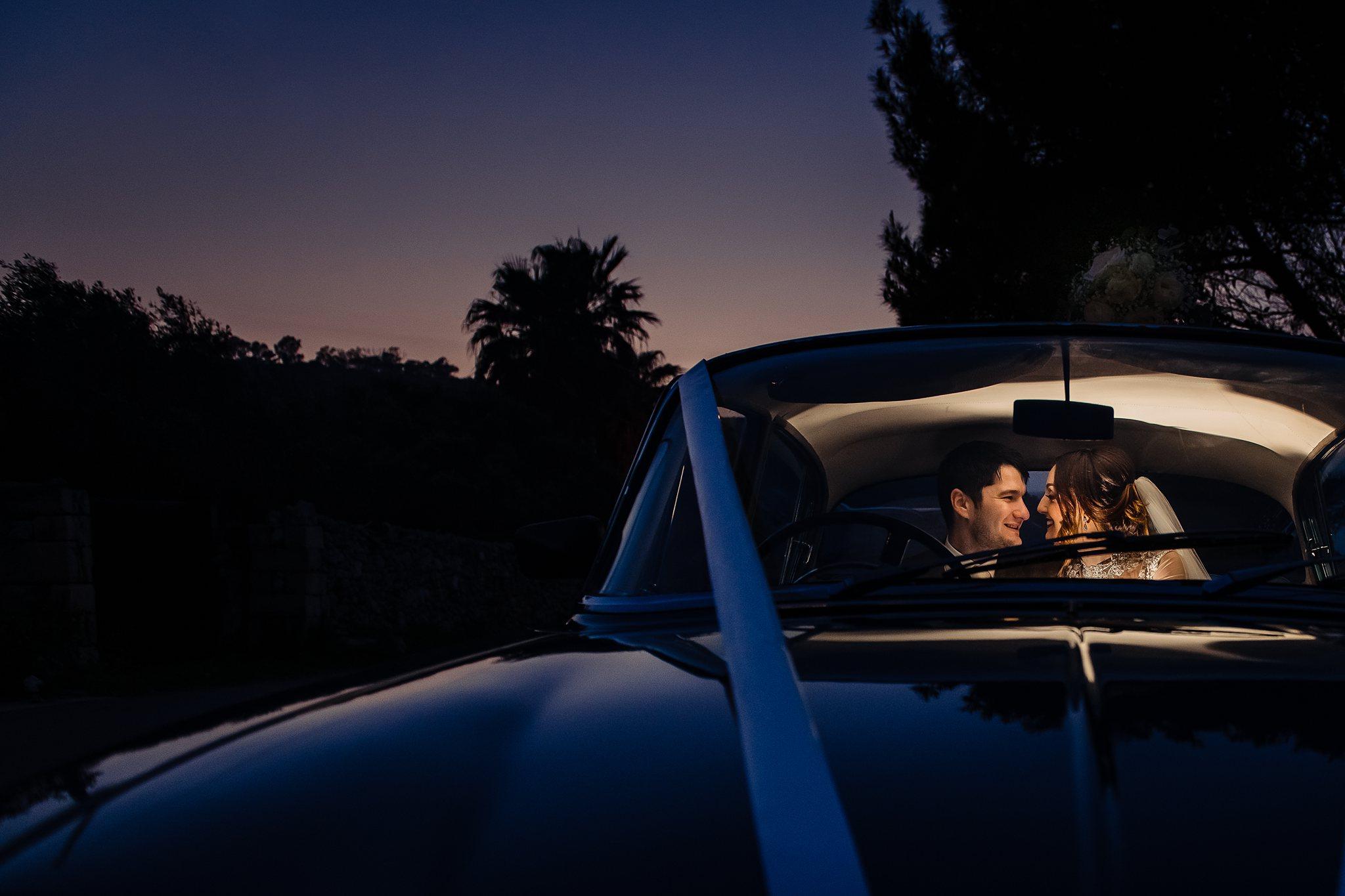 Couple seen kissing through car window - photo by Shane P. Watts Photography