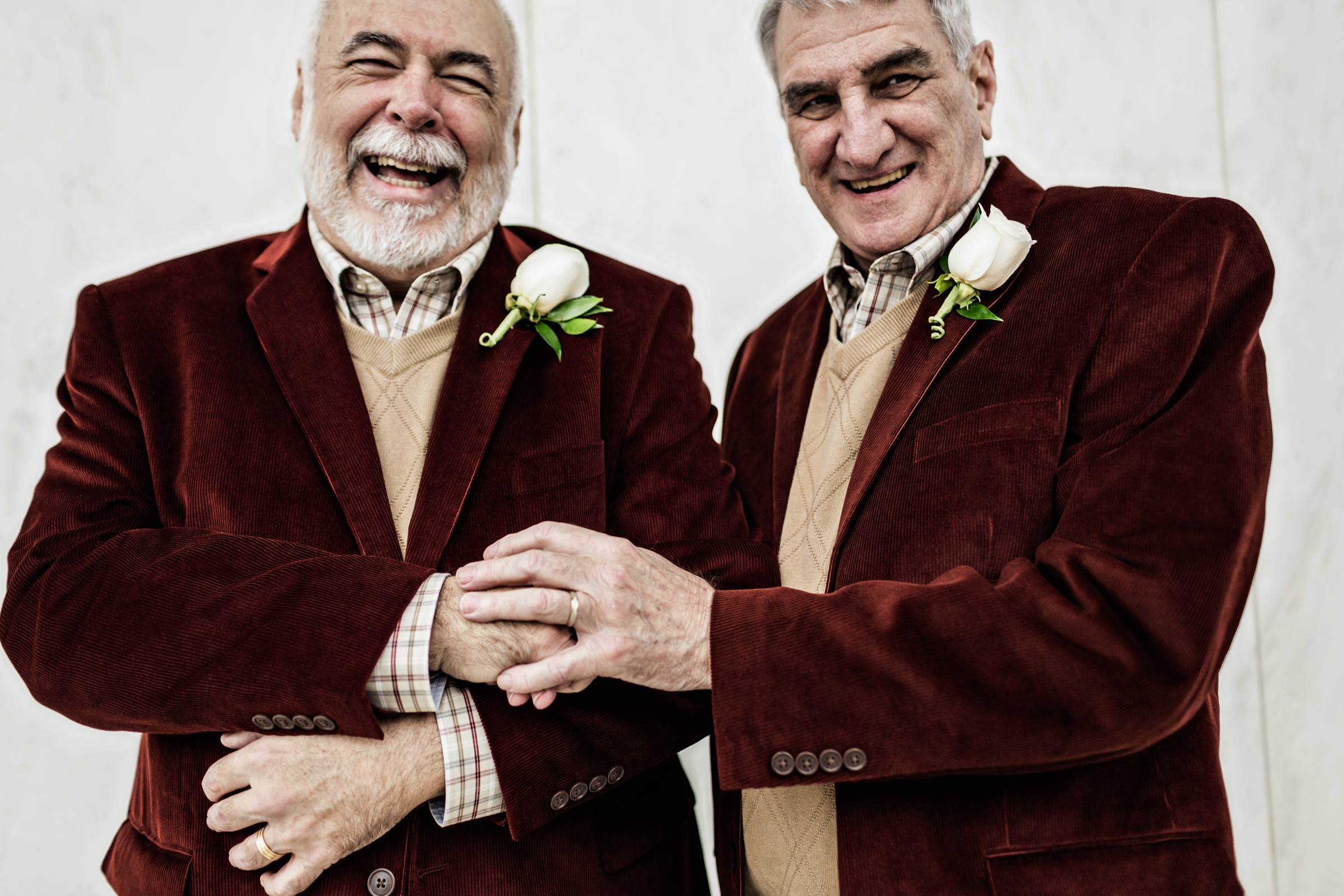 Grooms in matching clothing - photo by JAGstudios