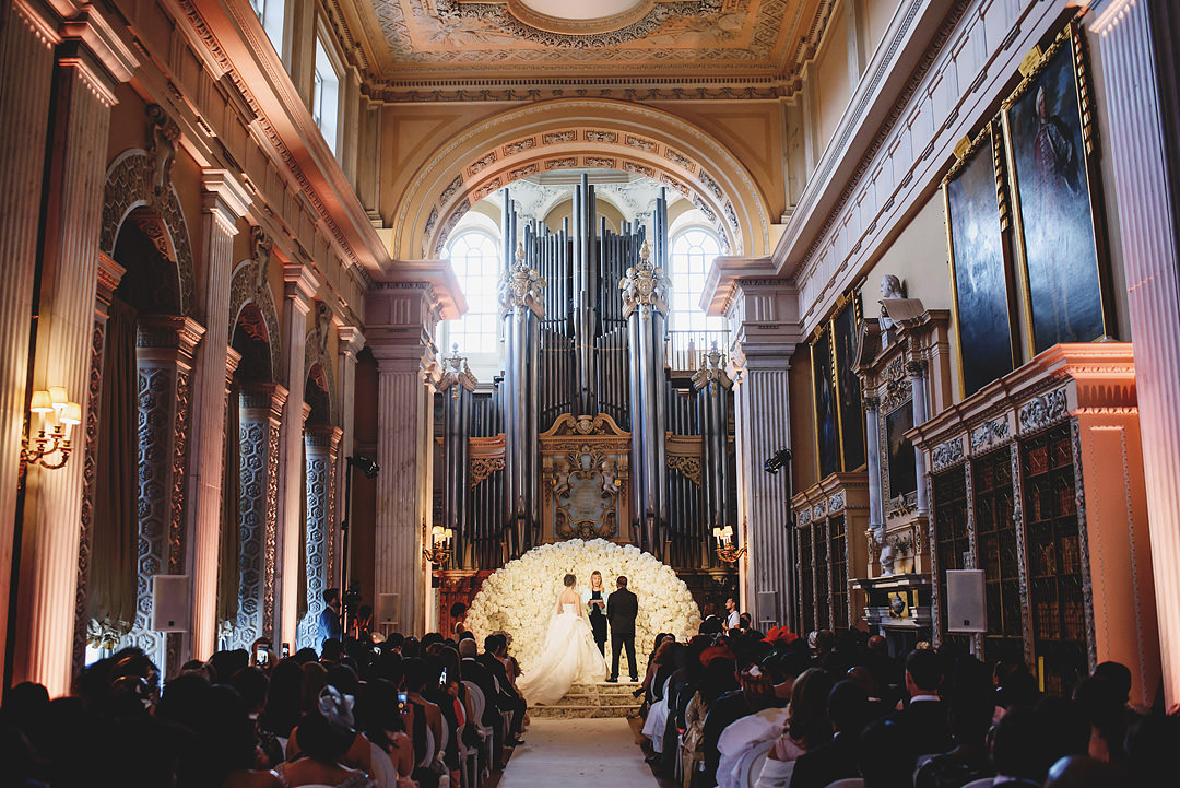Blenheim Castle chapel ceremony - photo by Ross Harvey Photography