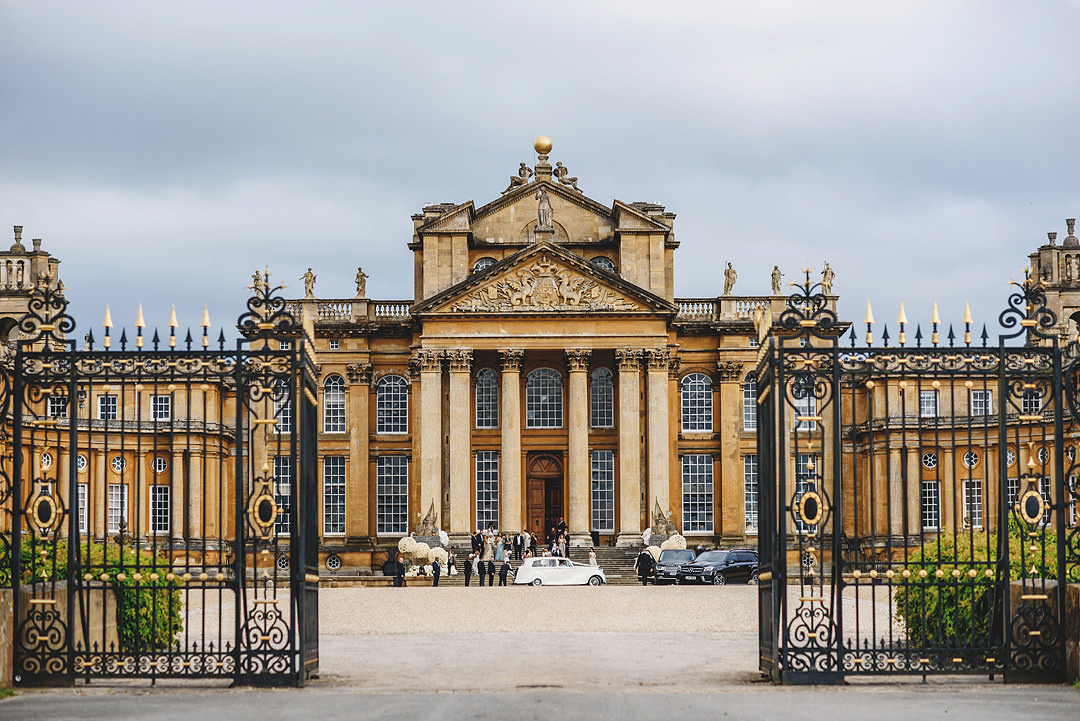 Blenheim castle entryway - photo by Ross Harvey Photography