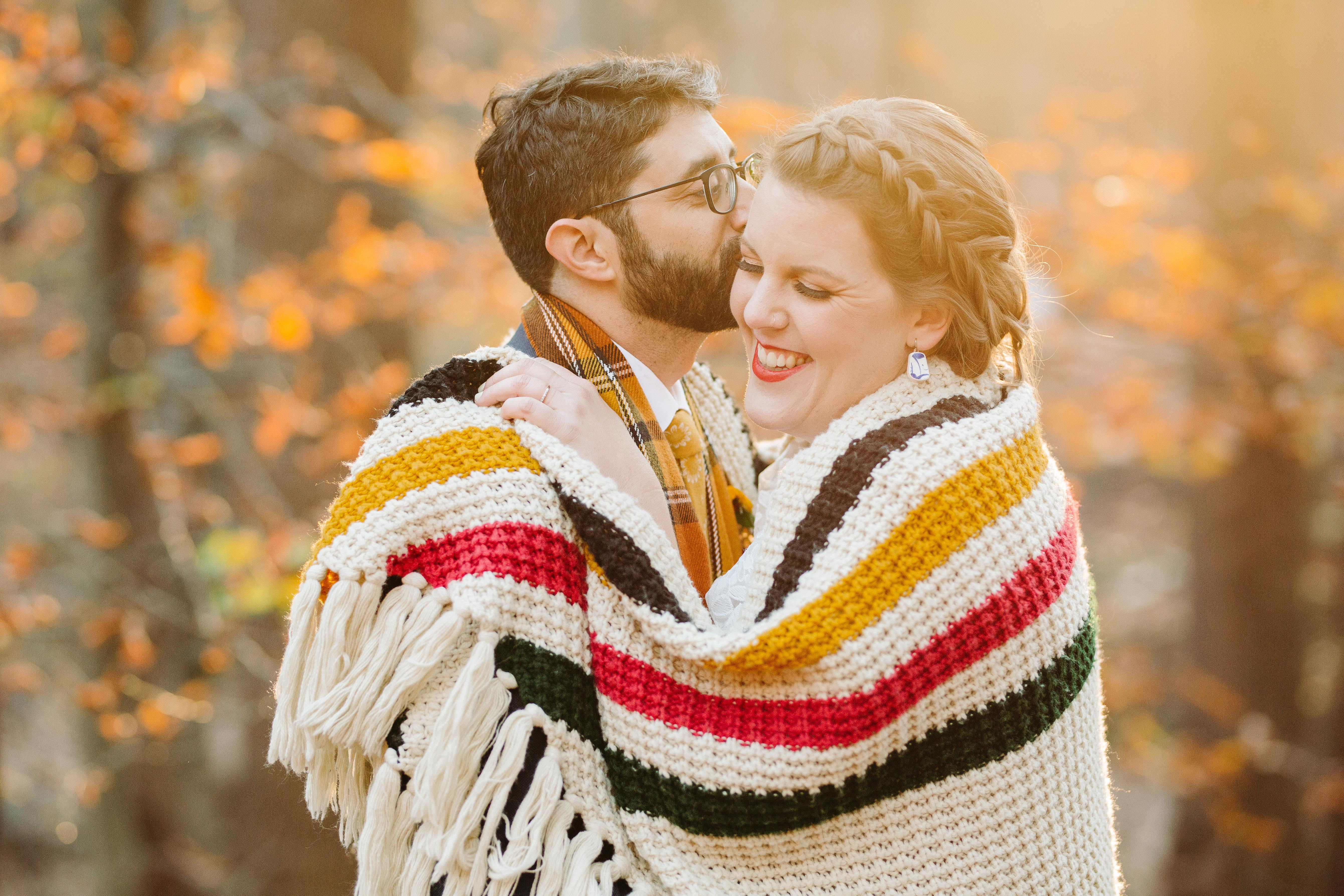 Cozy fall engagement photo  by Cameron Zegers Photography - Seattle