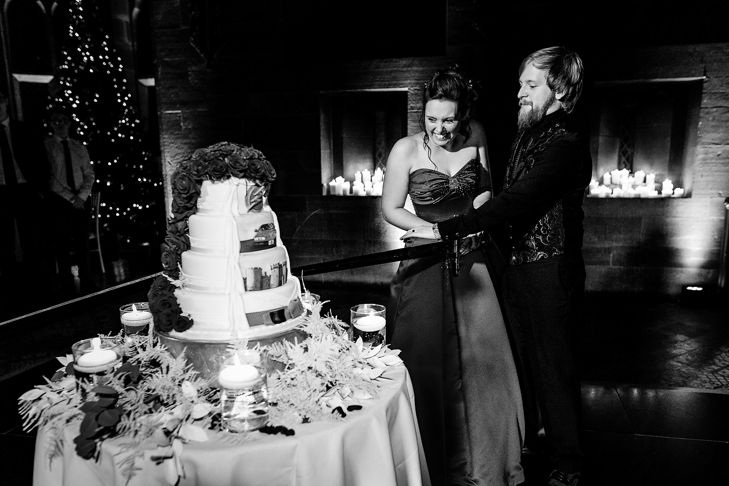 Cake cutting with sword - photo by Emma + Rich