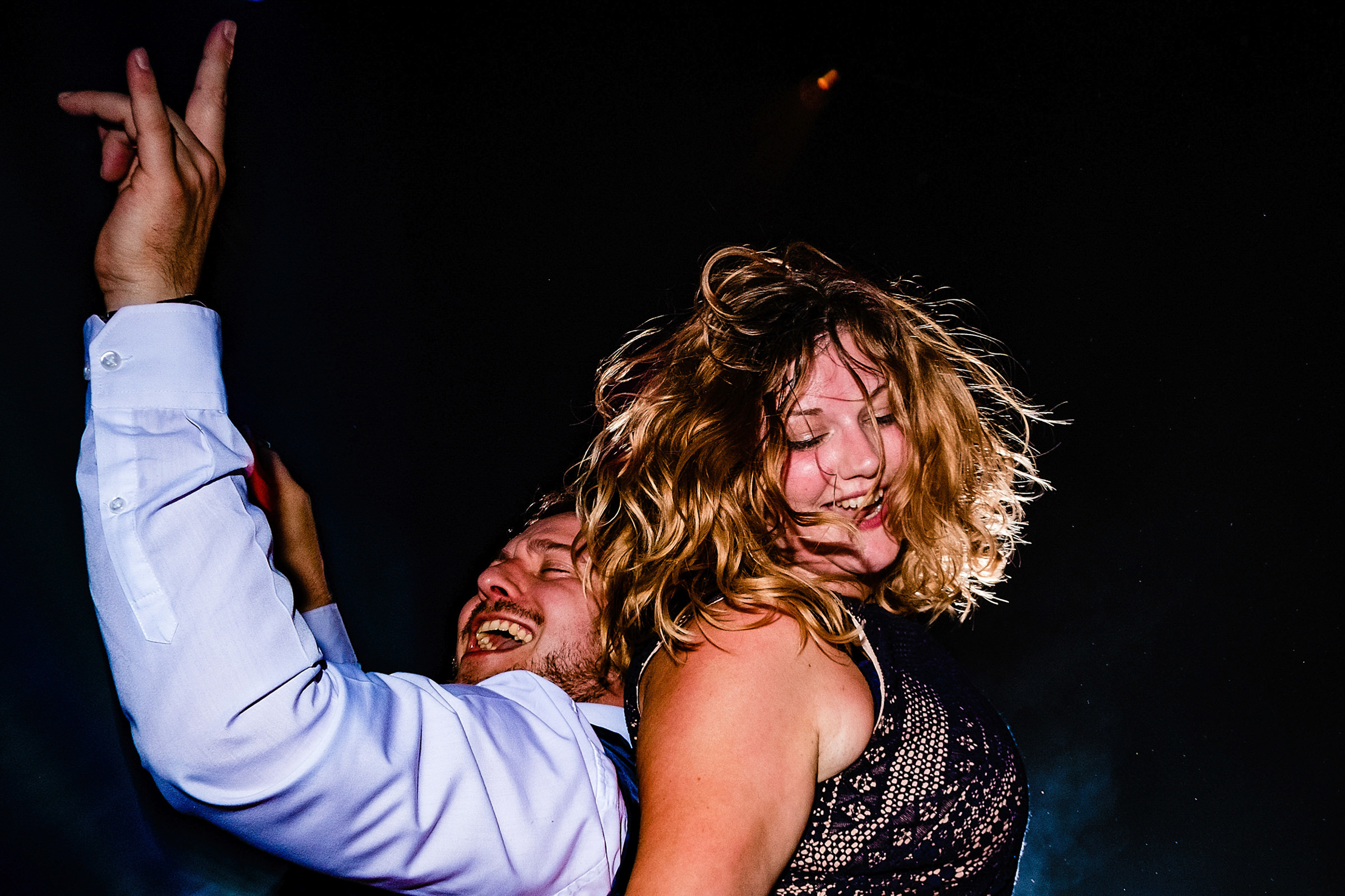 Dancing couple - photo by Emma + Rich