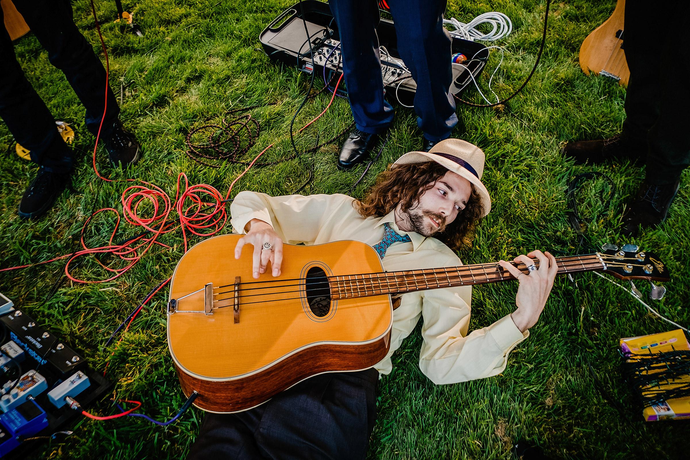 Stylized portrait of wedding musician - photo by Emma + Rich