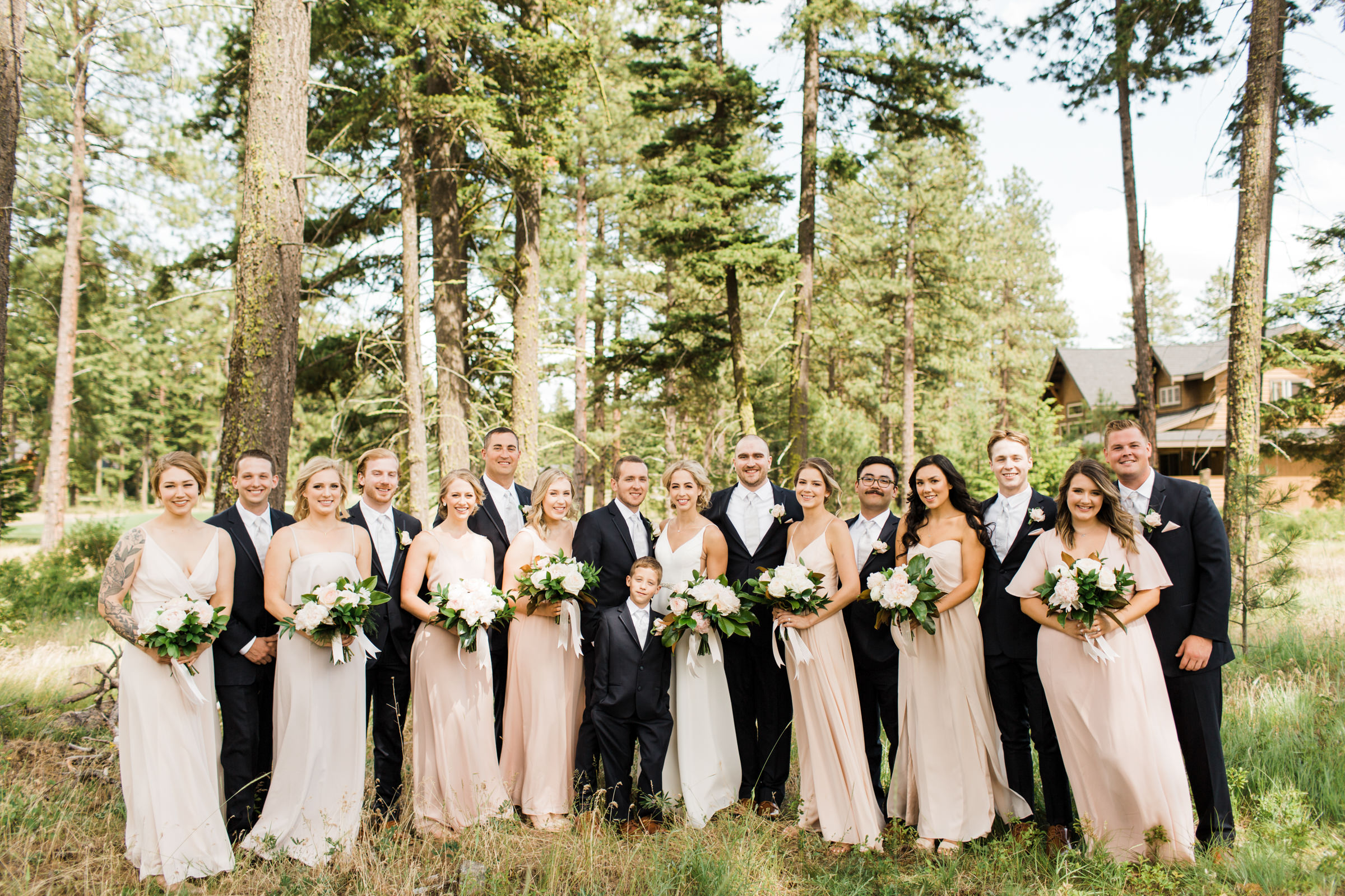Bridal party photo at Willows Lodge by Stephanie Cristalli Photography