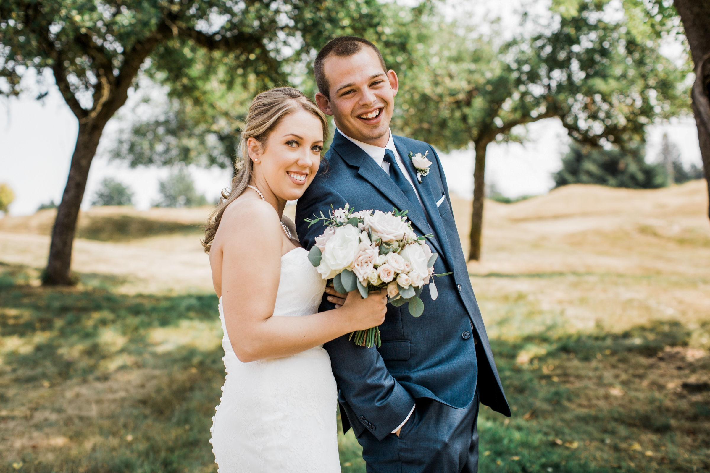 Couple portrait at golf course - photo by Stephanie Cristalli Photography
