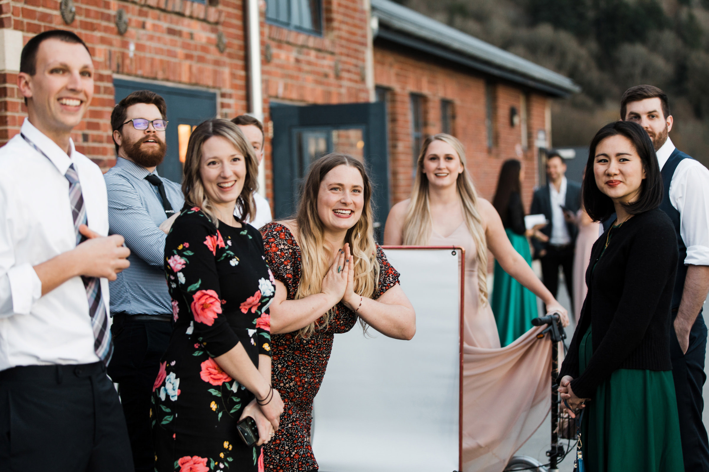 Guests wait for the couple to arrive - photo by Stephanie Cristalli Photography
