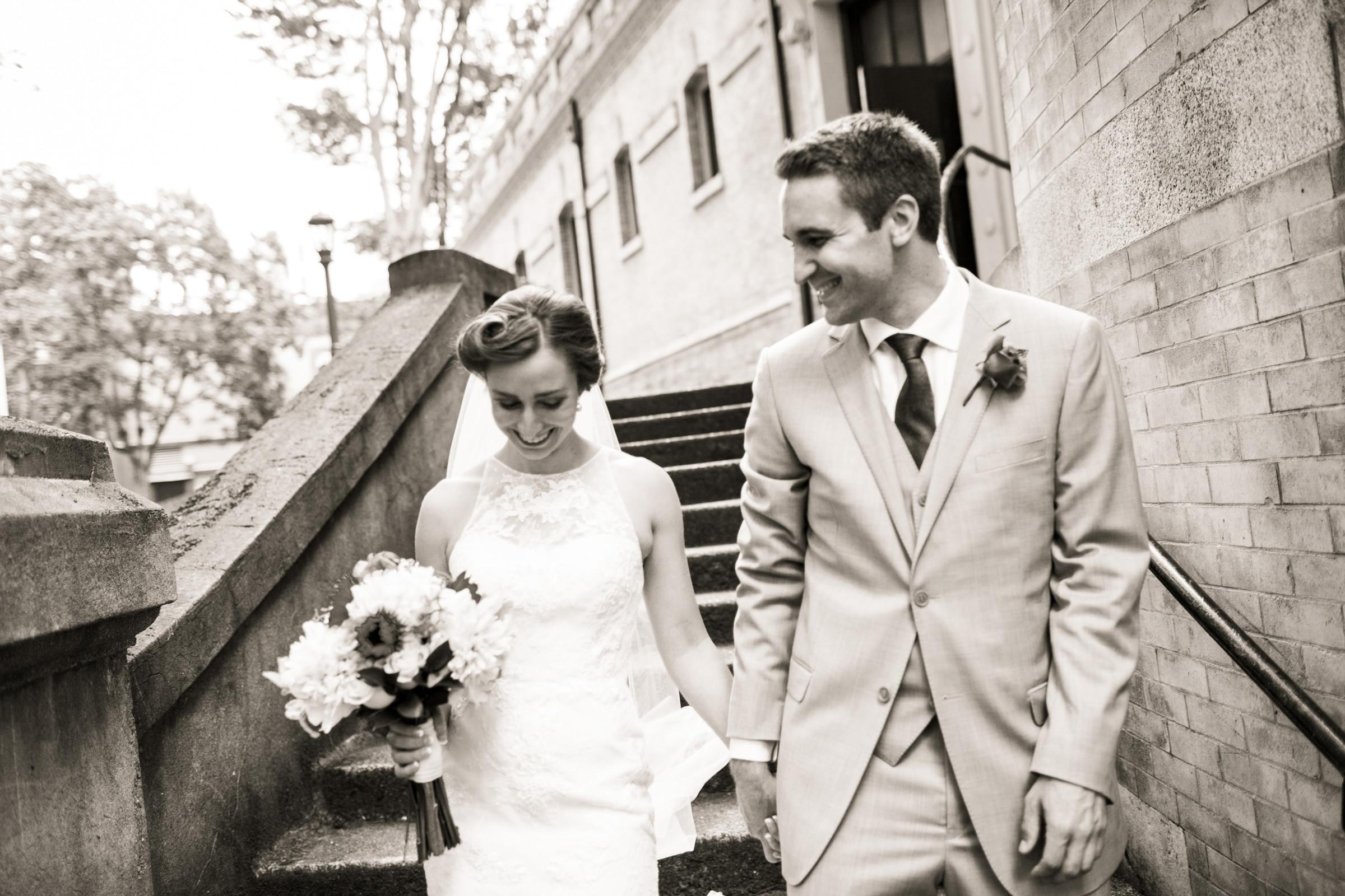 Happy couple leaving ceremony - photo by Stephanie Cristalli Photography