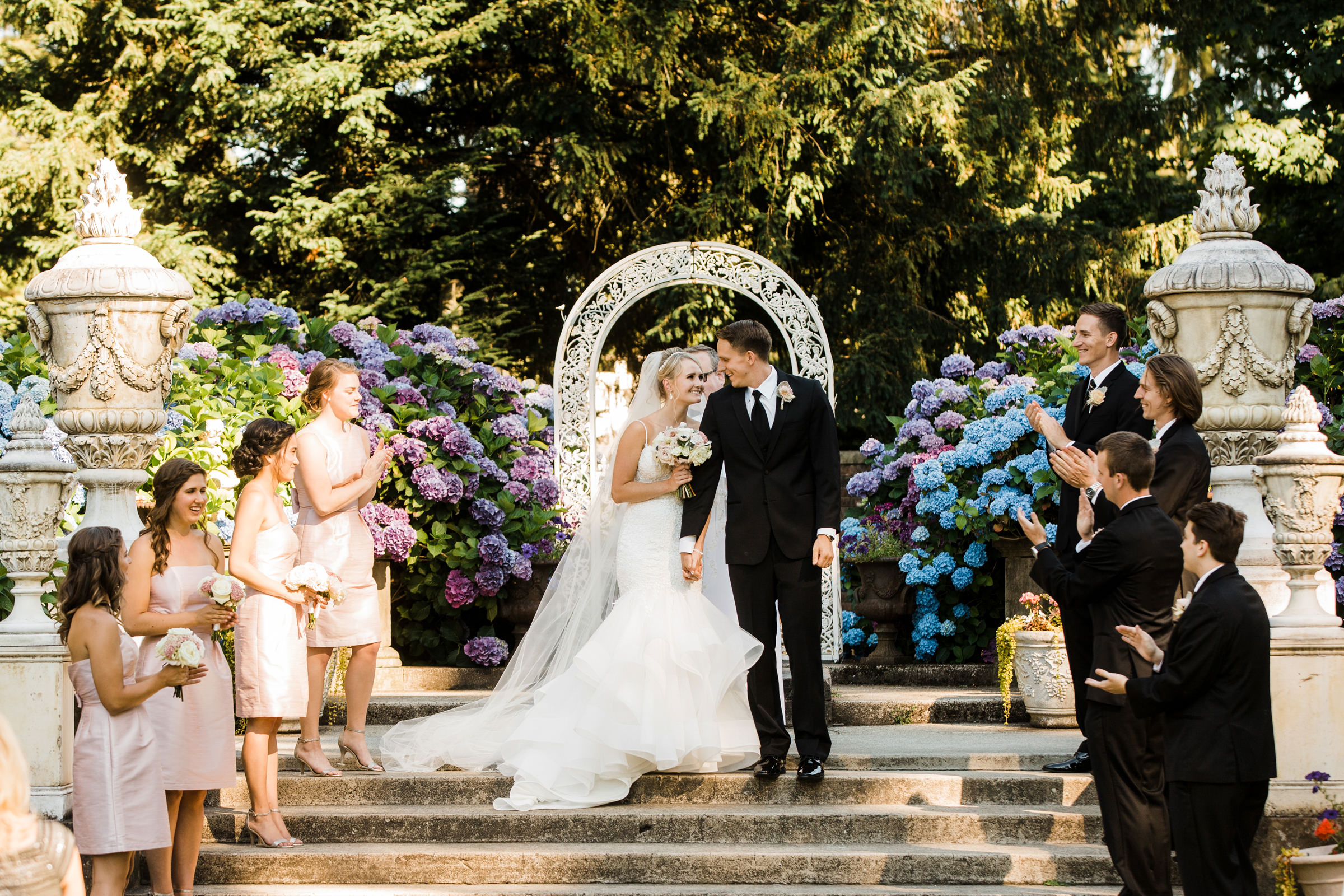 Just married couple at Hawthorn Castle - photo by Stephanie Cristalli Photography