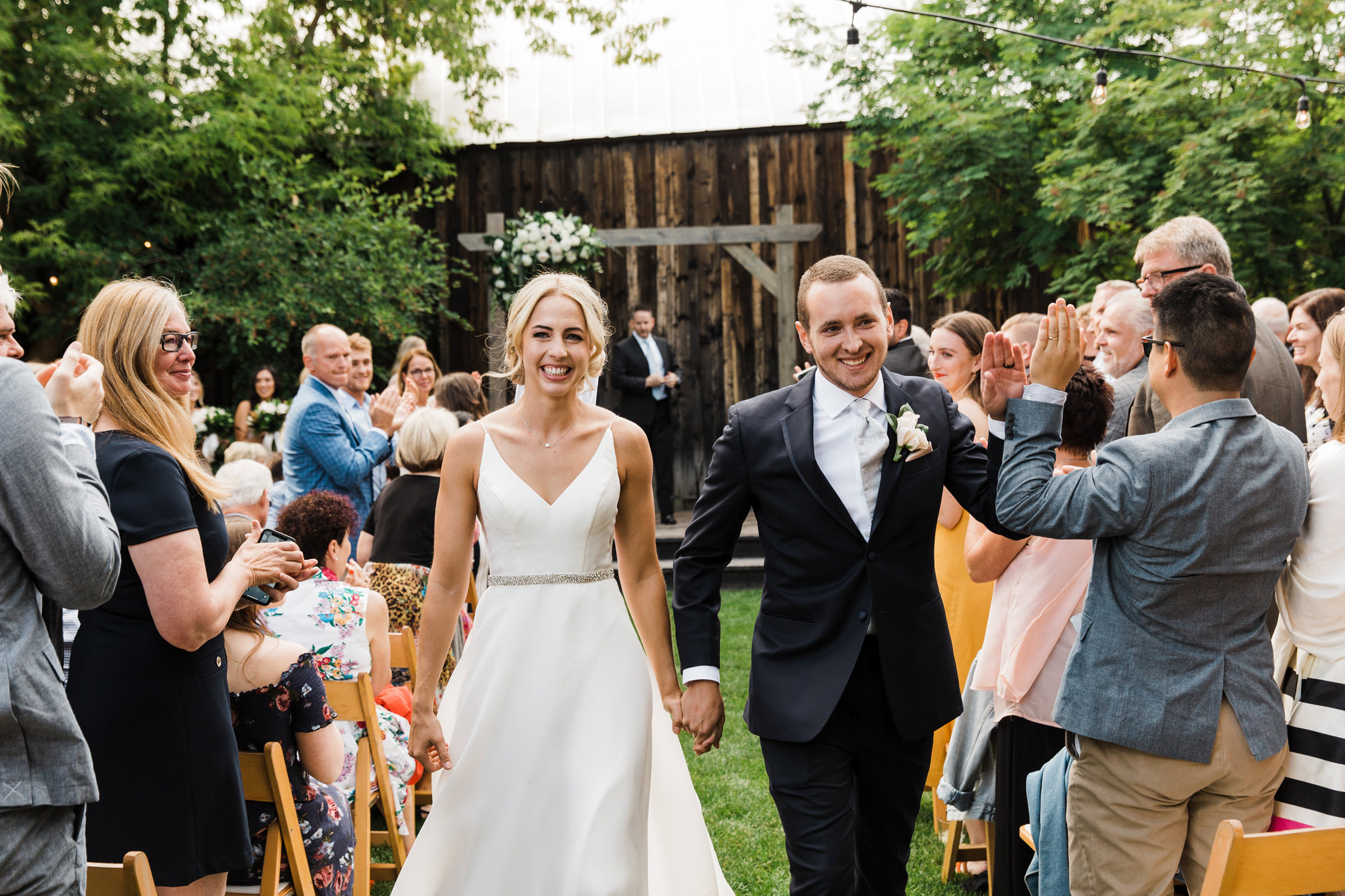 Just married couple at The Willows Lodge - photo by Stephanie Cristalli Photography